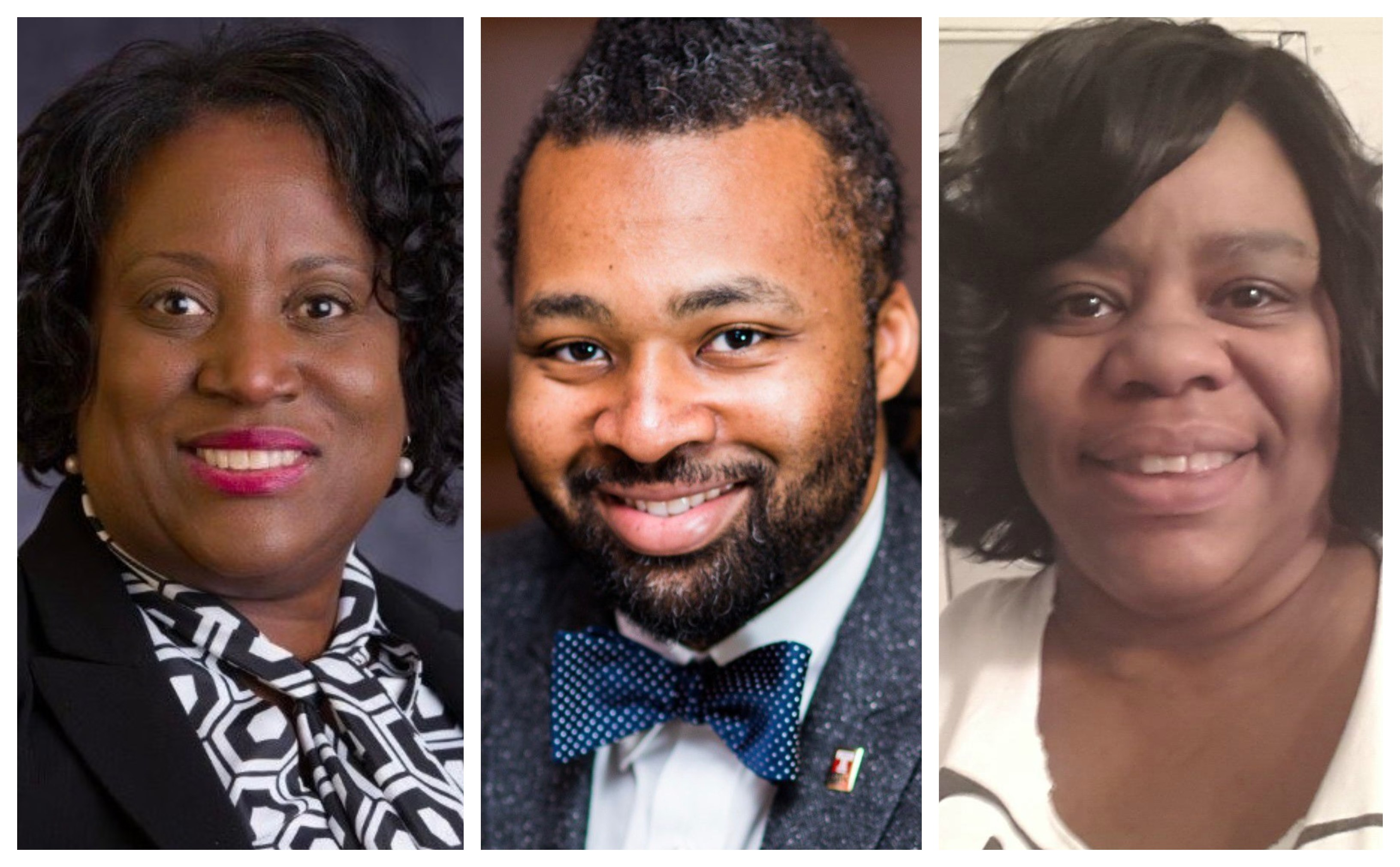 Mayor Kenney's three new board nominees, from left, Lisa Salley, Reginald Streeter, and Cecelia Thompson
