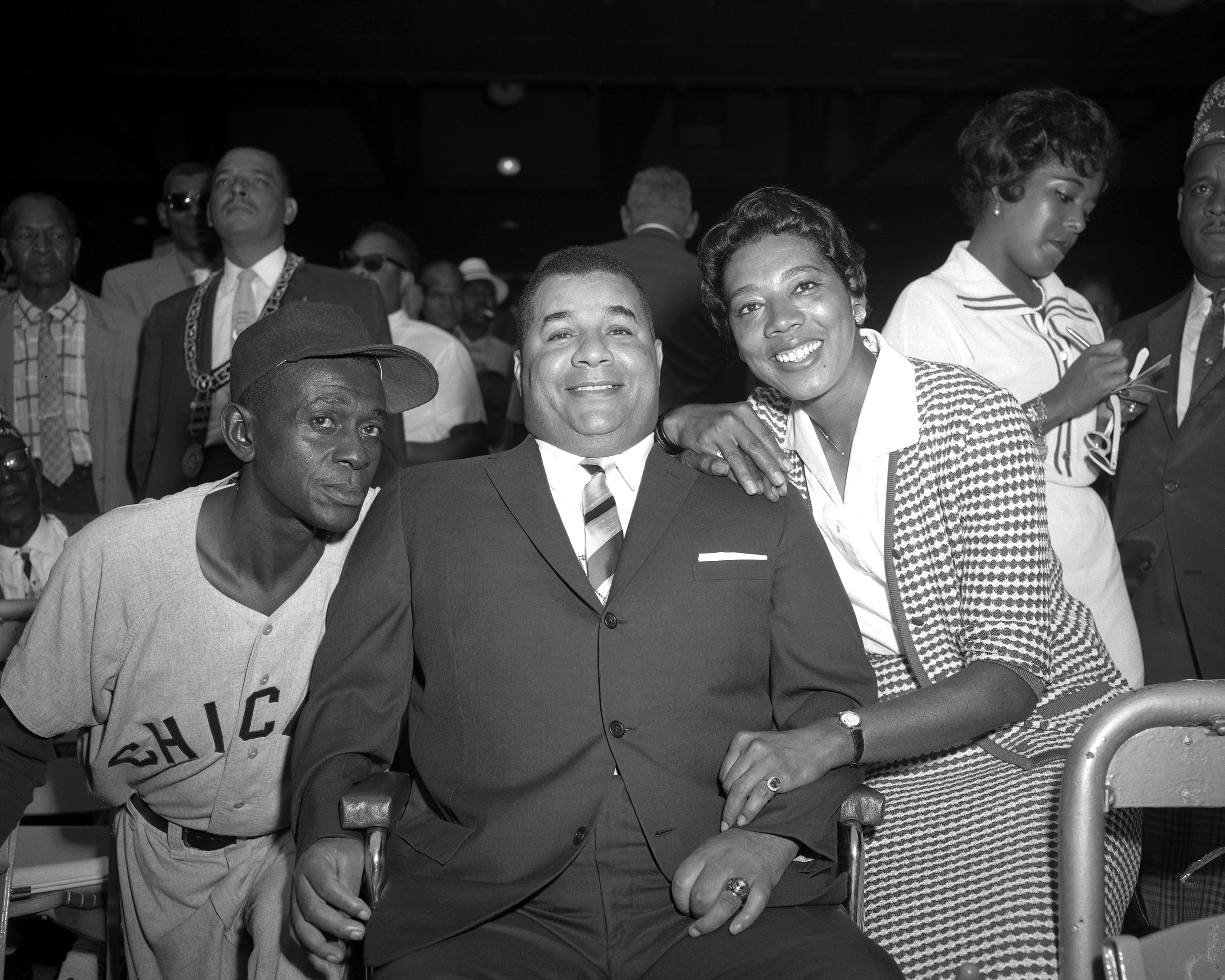 Stars Are Out. Satchel Paige, Roy Campanella and Althea Gibs