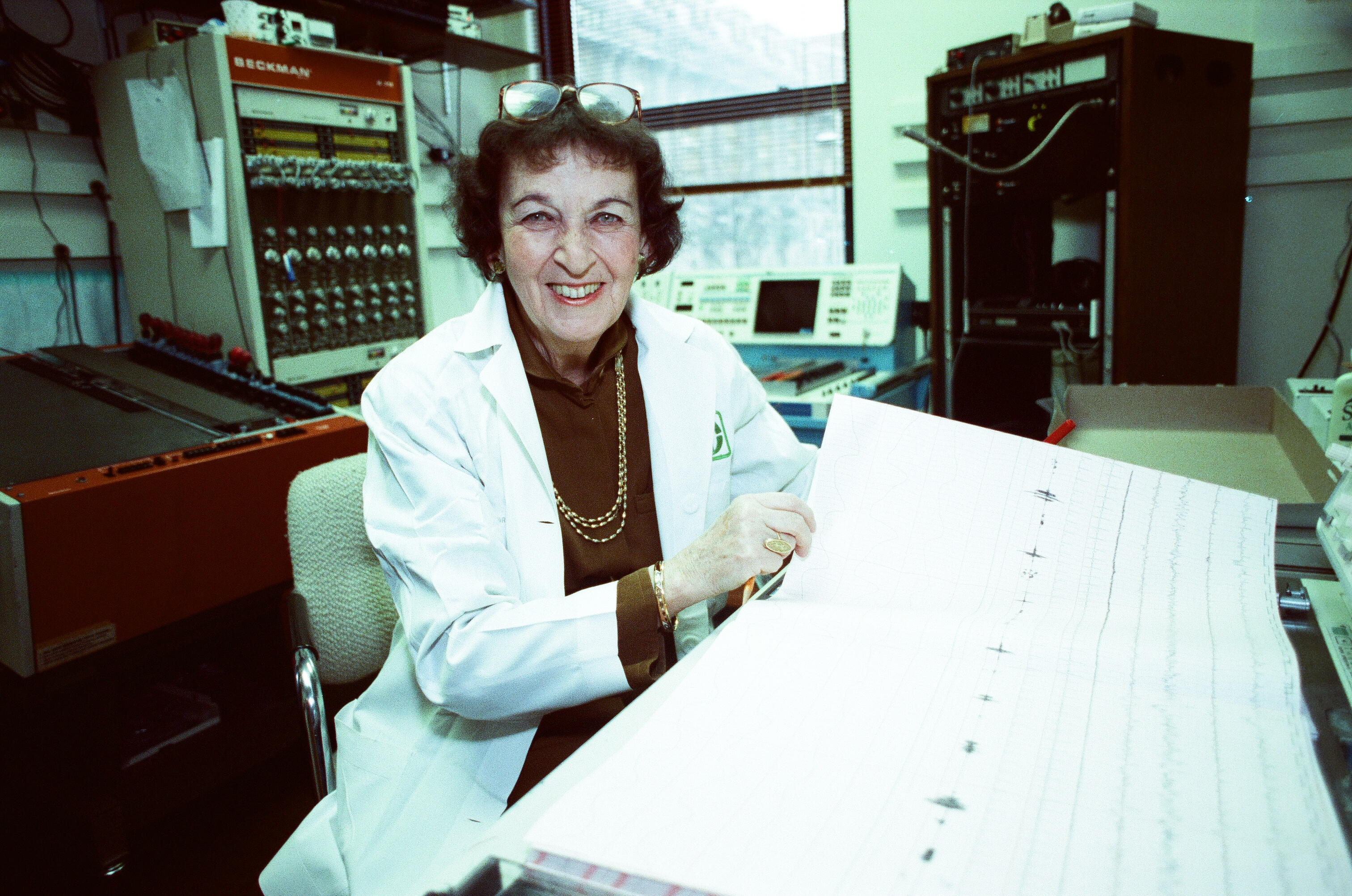 Rosalind Cartwright in her dream research lab.