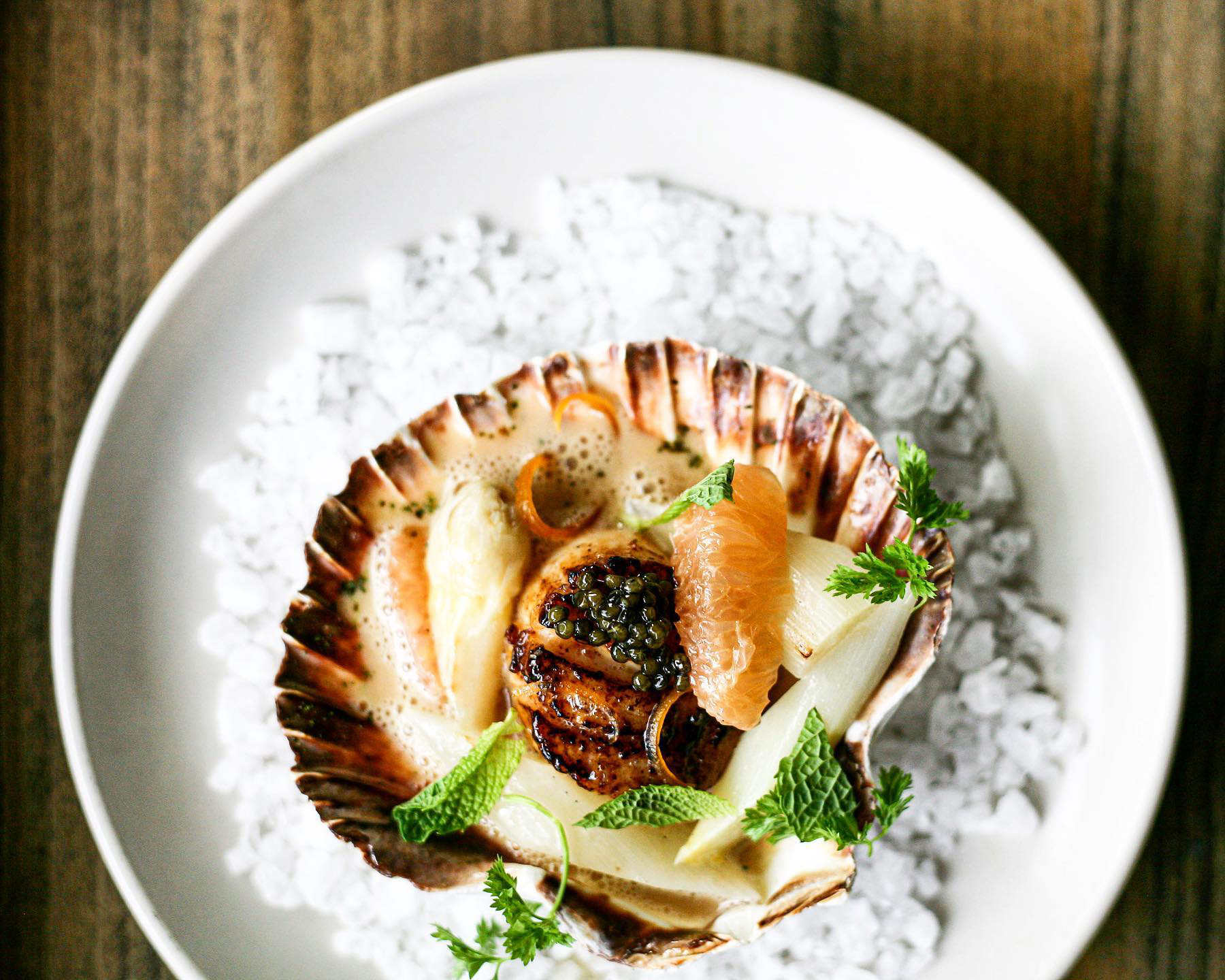 A scallop dish from Jeffrey's