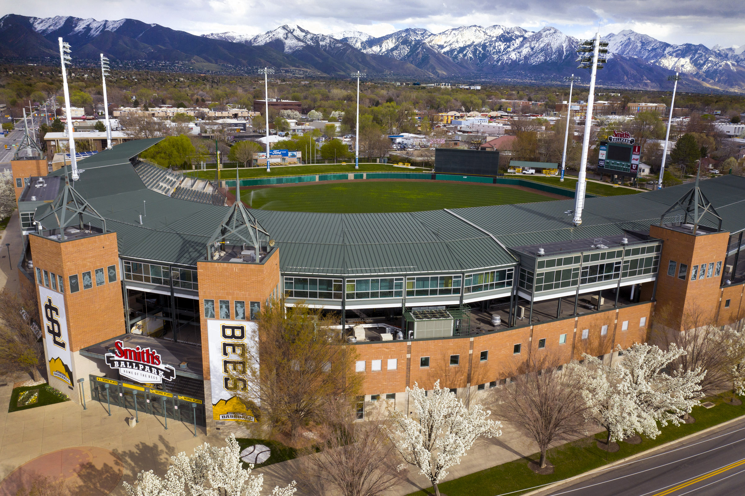 Smith's Ballpark in Salt Lake City is pictured on Tuesday, April 7, 2020.