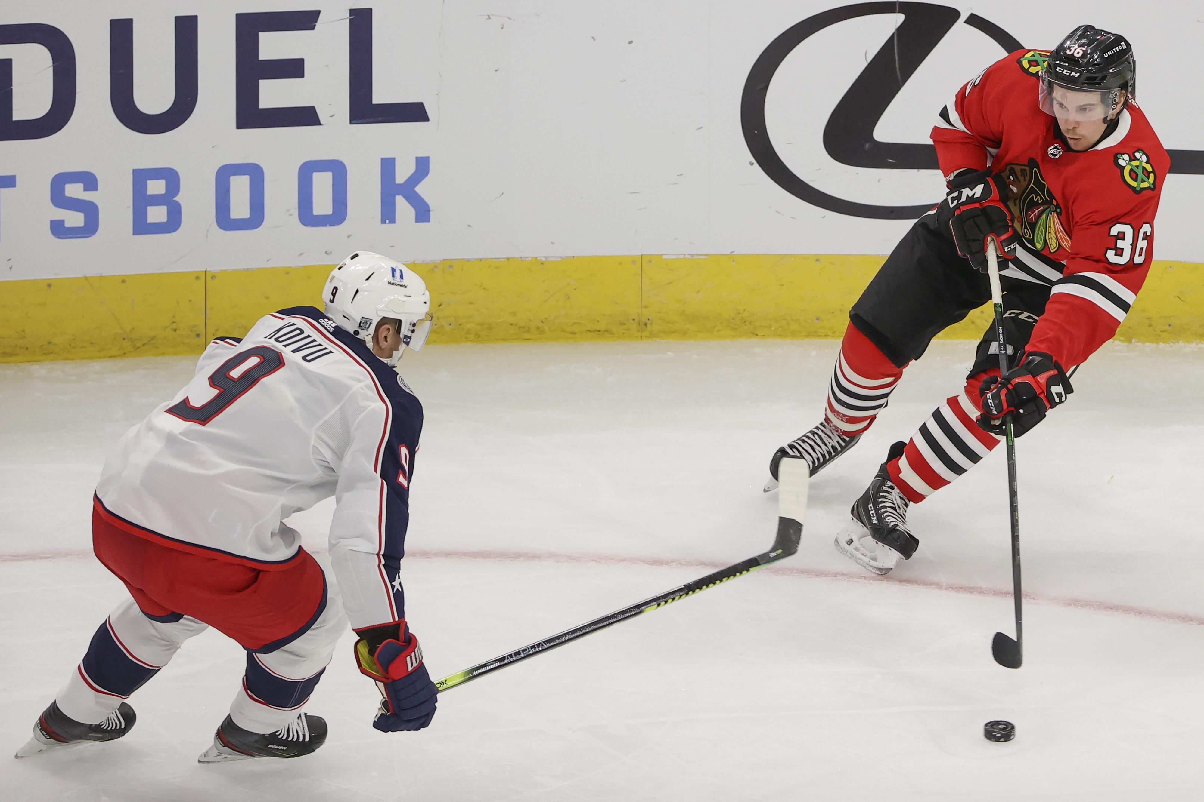 NHL: Columbus Blue Jackets at Chicago Blackhawks