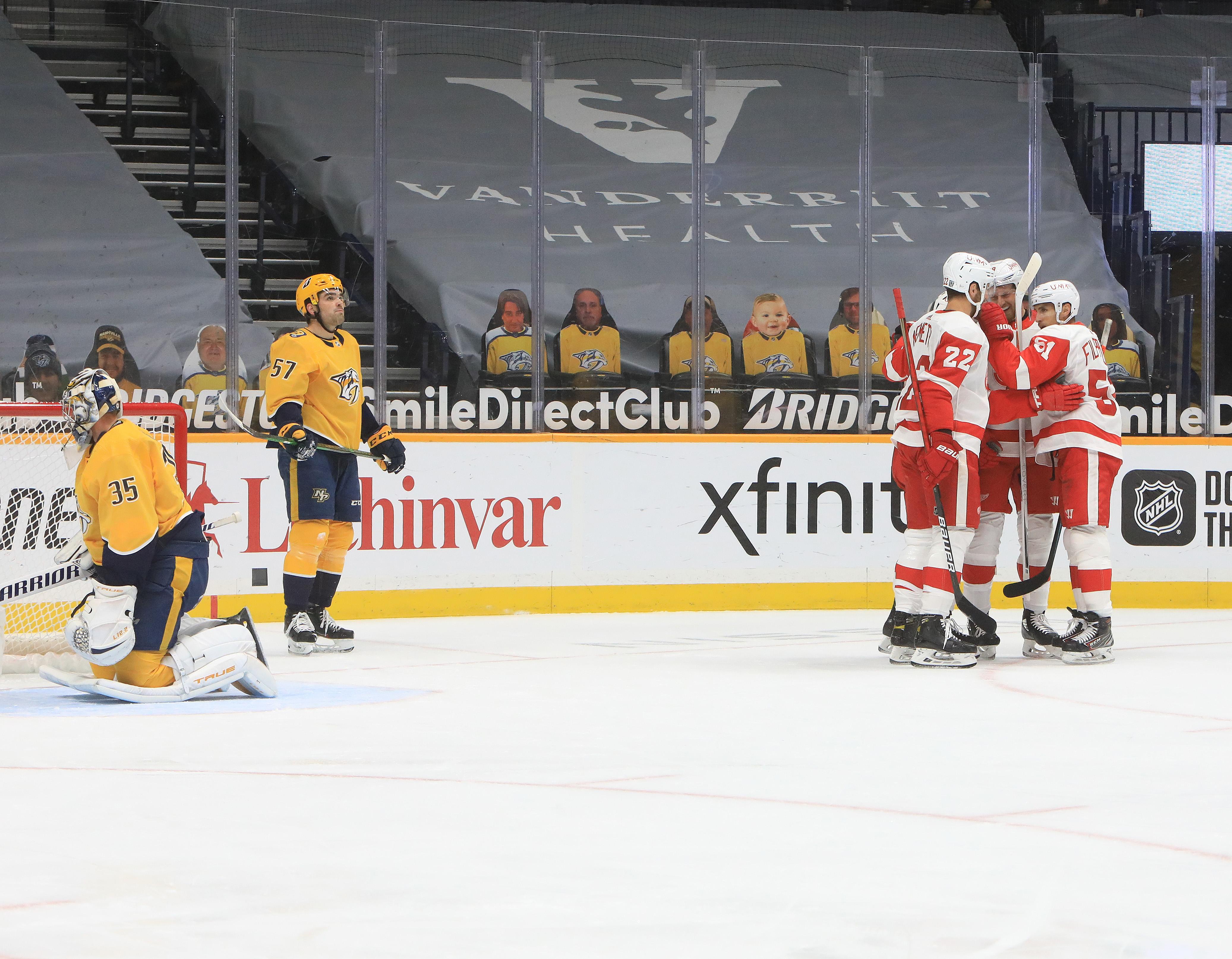 NHL: FEB 13 Red Wings at Predators