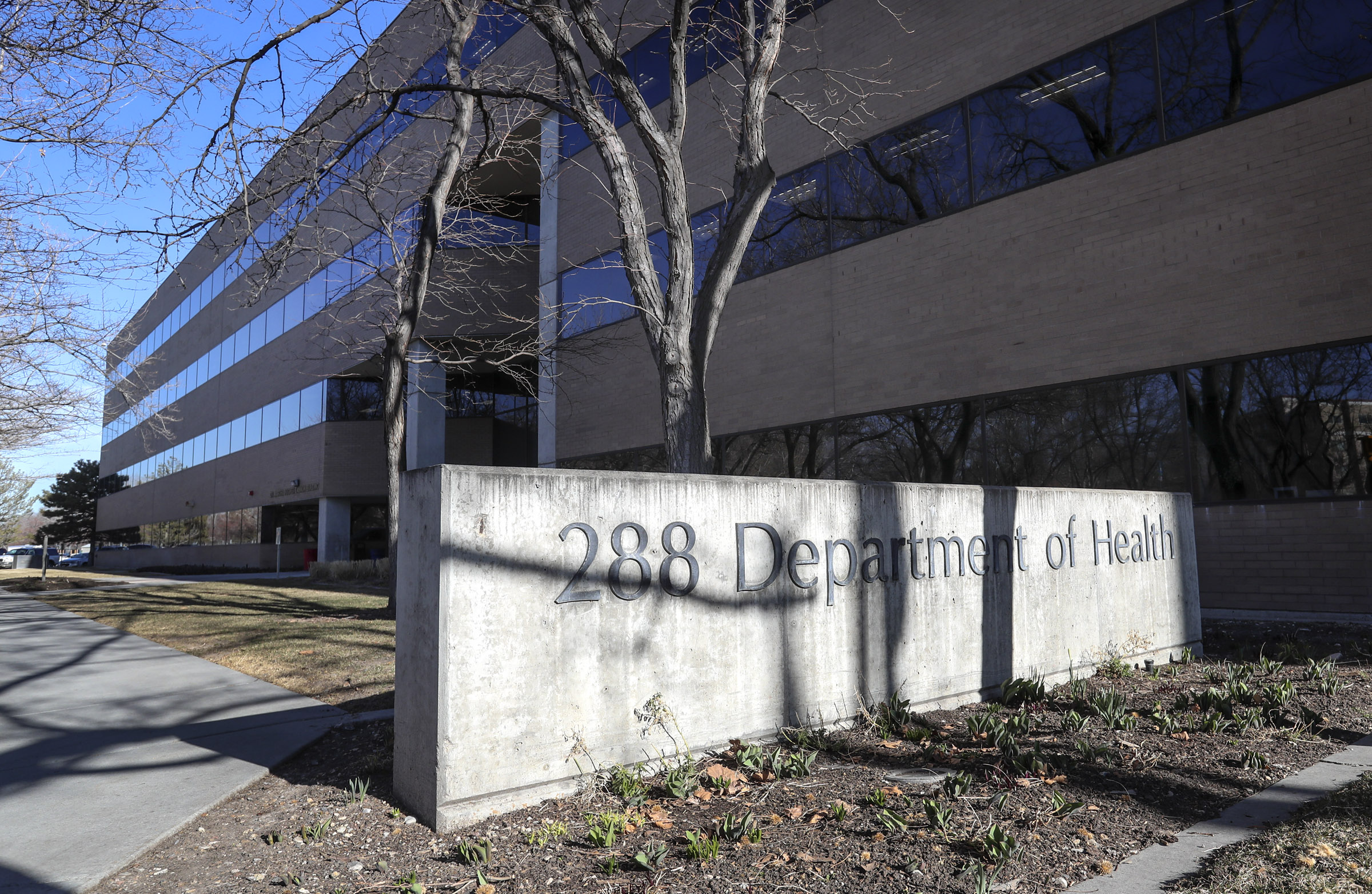 The Utah Department of Health building in Salt Lake City is pictured on Thursday, Feb. 27, 2020.