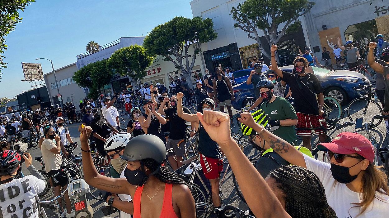 Bike Rides For Black Lives protest