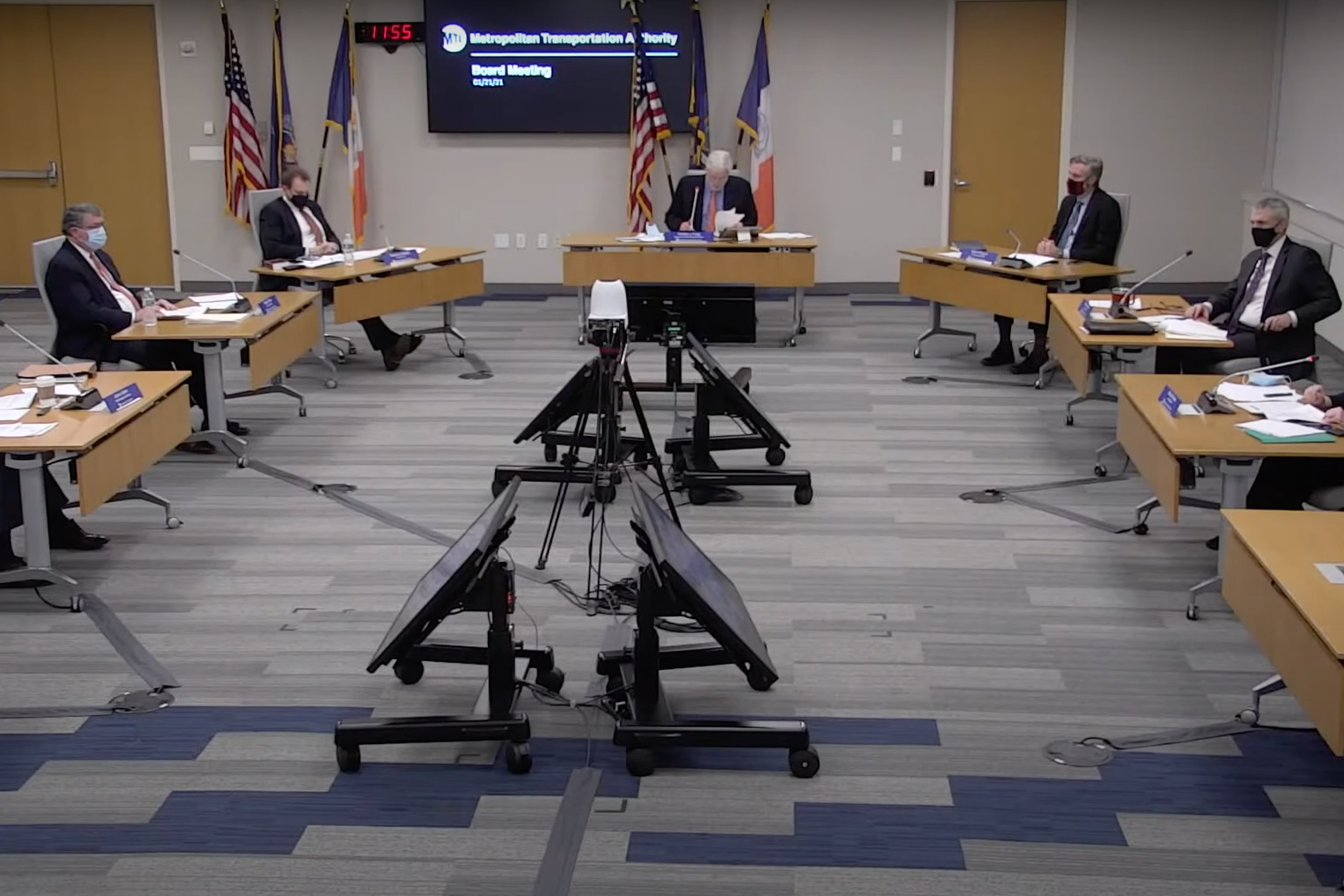 The MTA board held its first meeting of 2021 on Jan. 21.