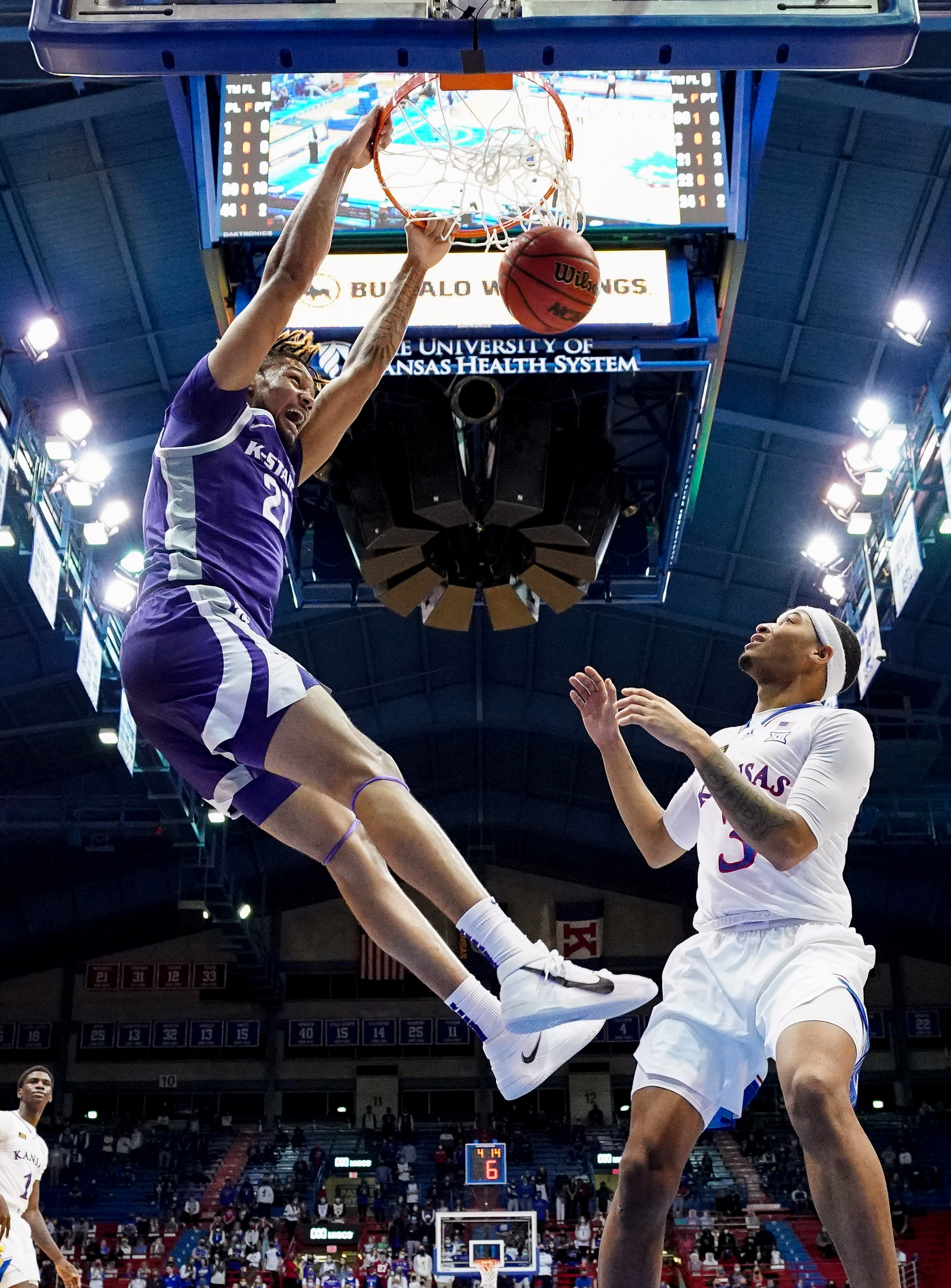 NCAA Basketball: Kansas State at Kansas