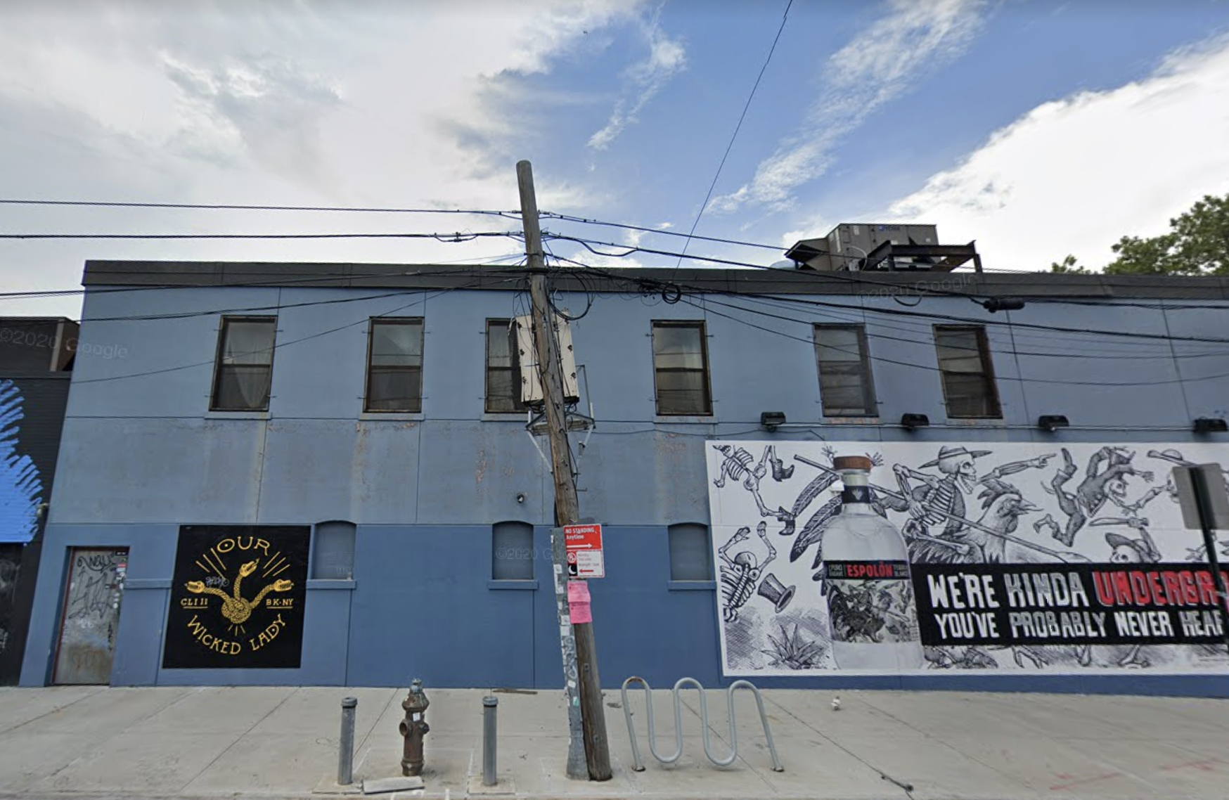 The exterior of the Williamsburg bar Our Wicked Lady