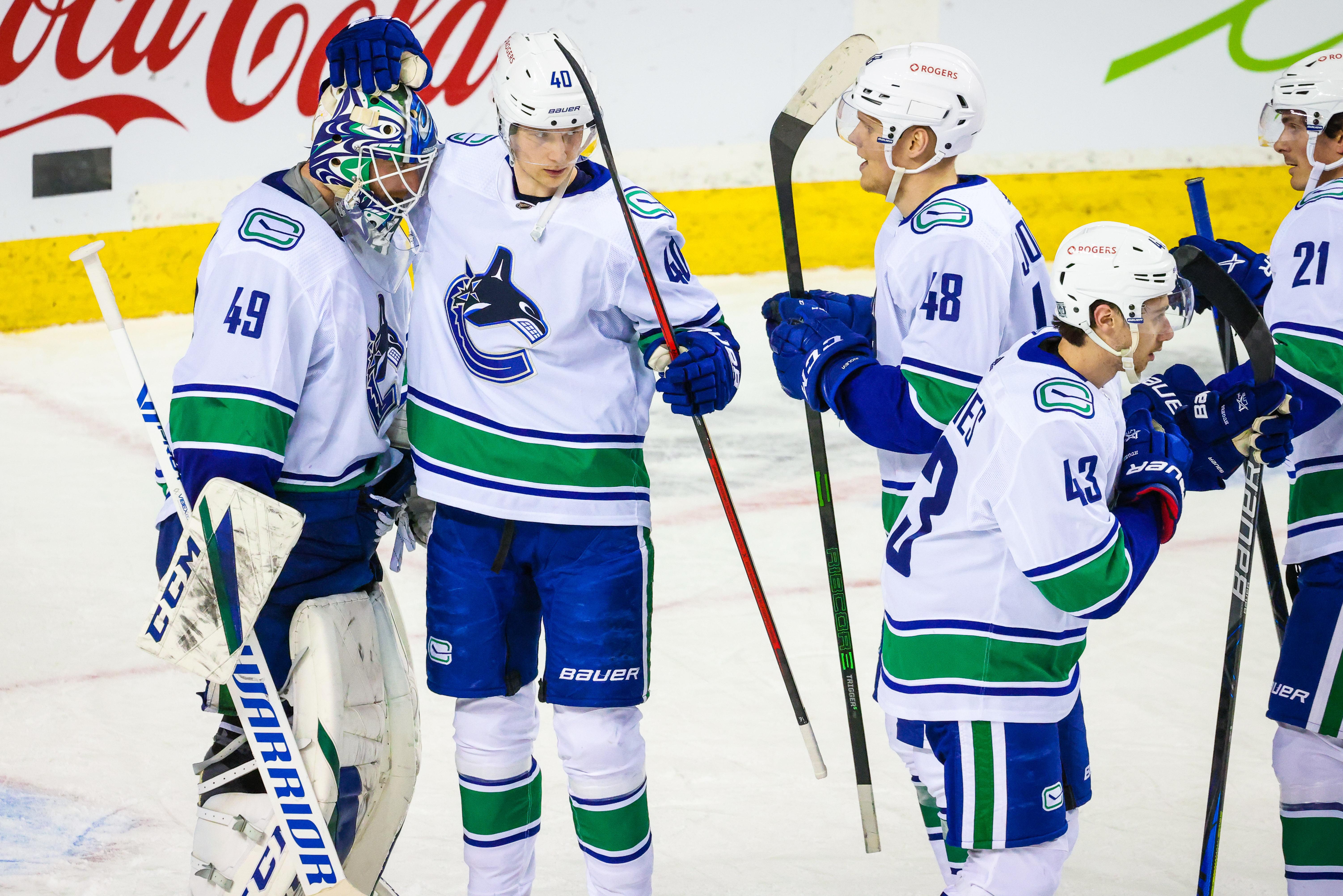 NHL: Vancouver Canucks at Calgary Flames