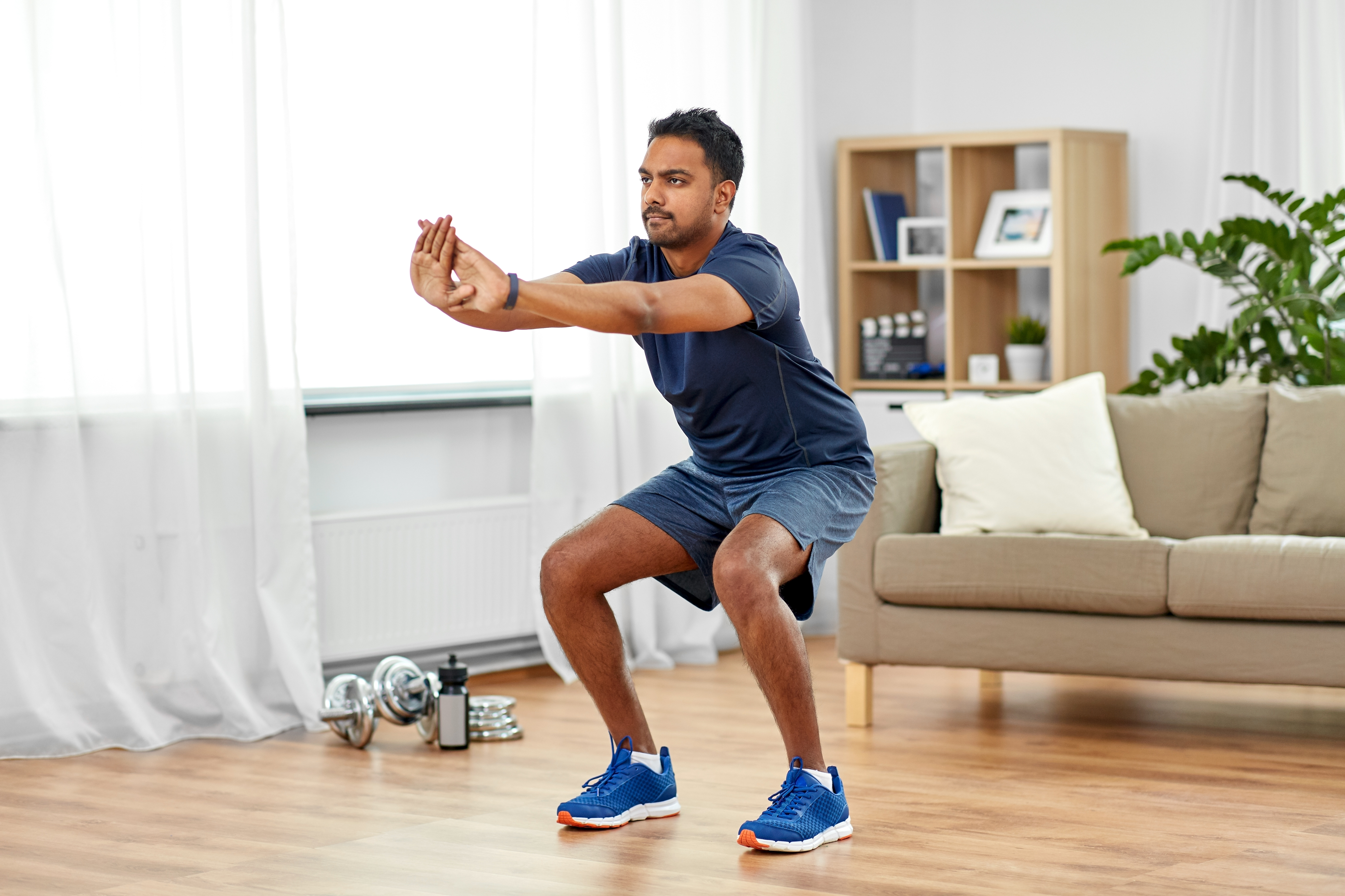 Researchers from the Mayo Clinic in Minnesota and McMaster University in Canada created their own version of a well-regarded body weight workout. These are exercises such as jumping jacks, stair climbing, planks and squats (pictured).