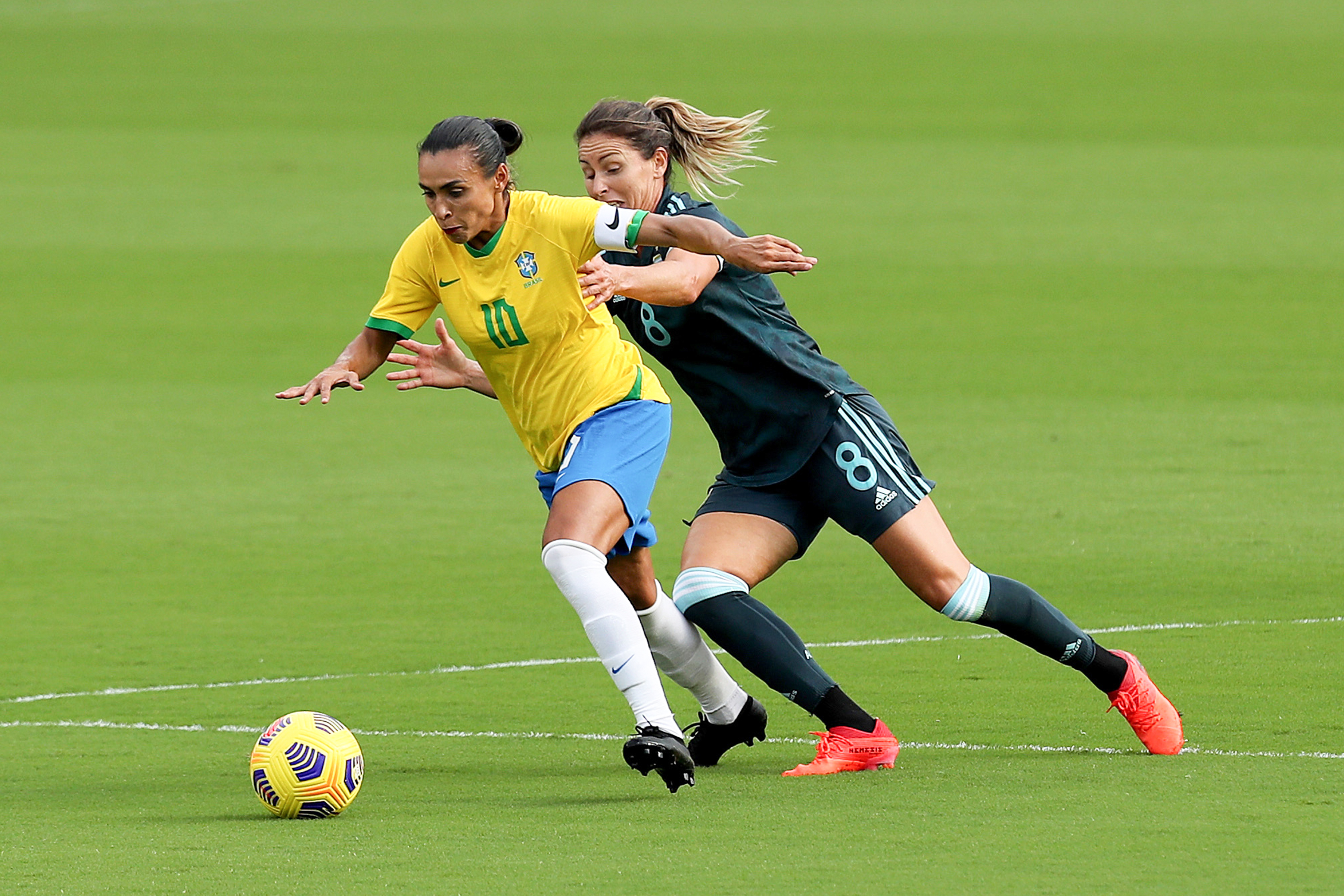 2021 SheBelieves Cup - Brazil v Argentina