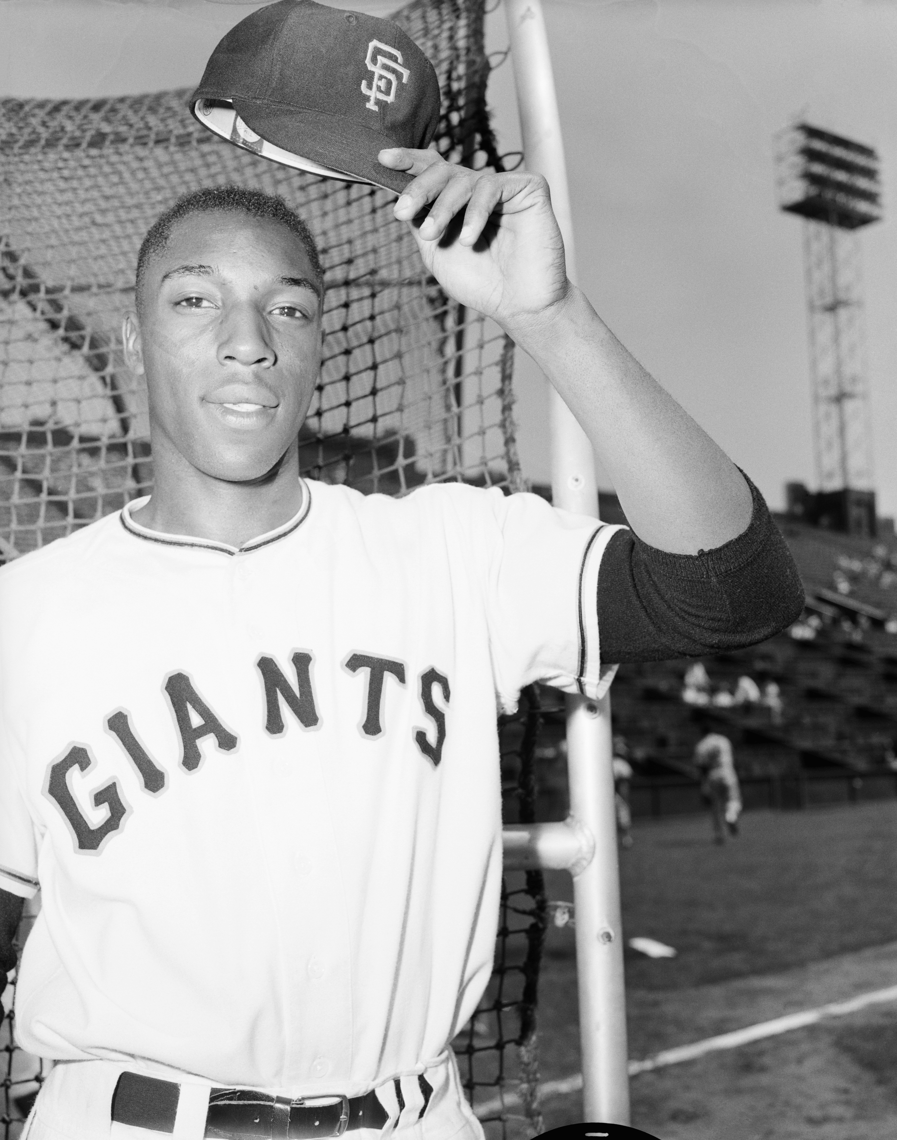 Giants Rookie Willie McCovey Doffing Cap