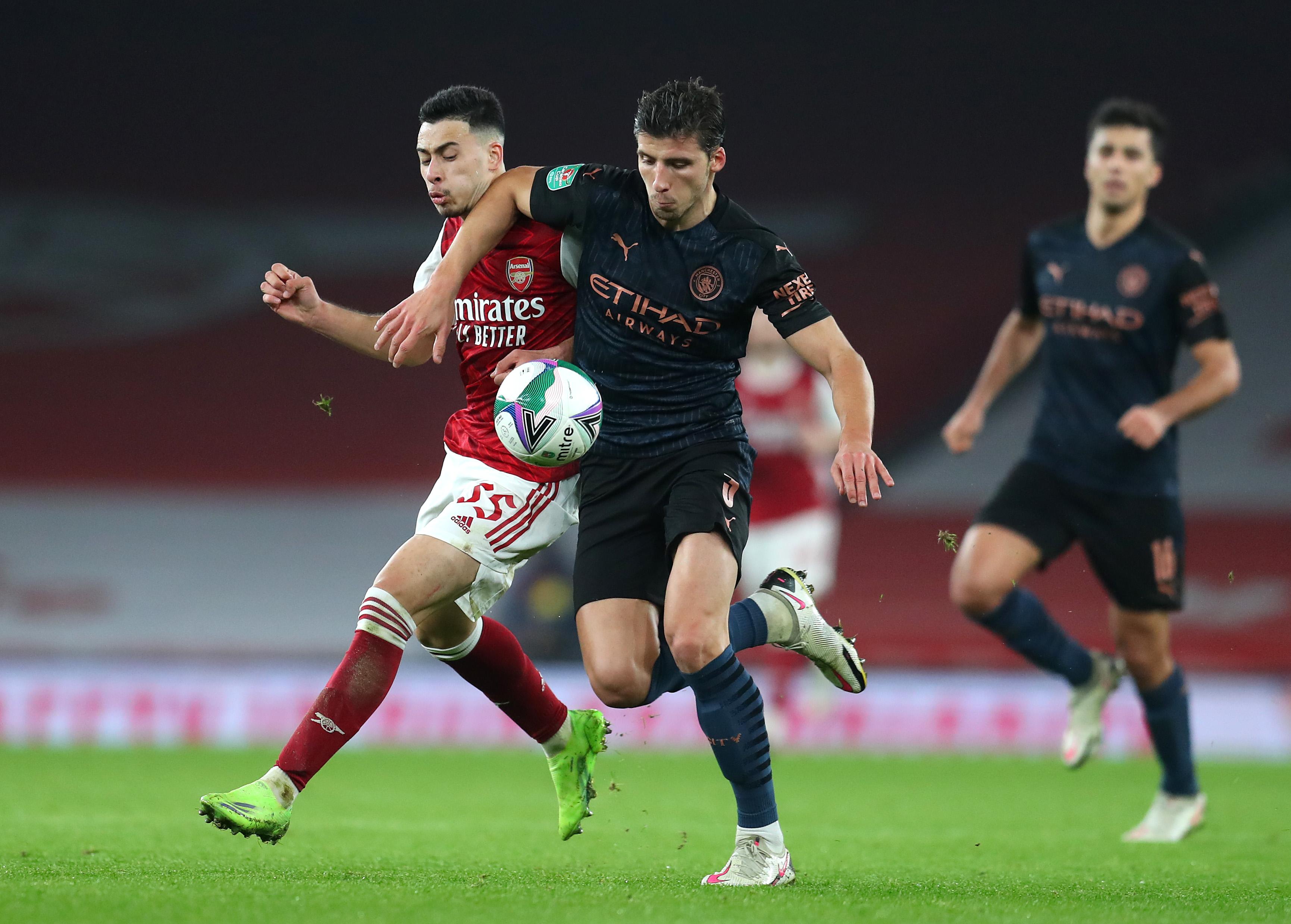 Arsenal v Manchester City - Carabao Cup Quarter Final