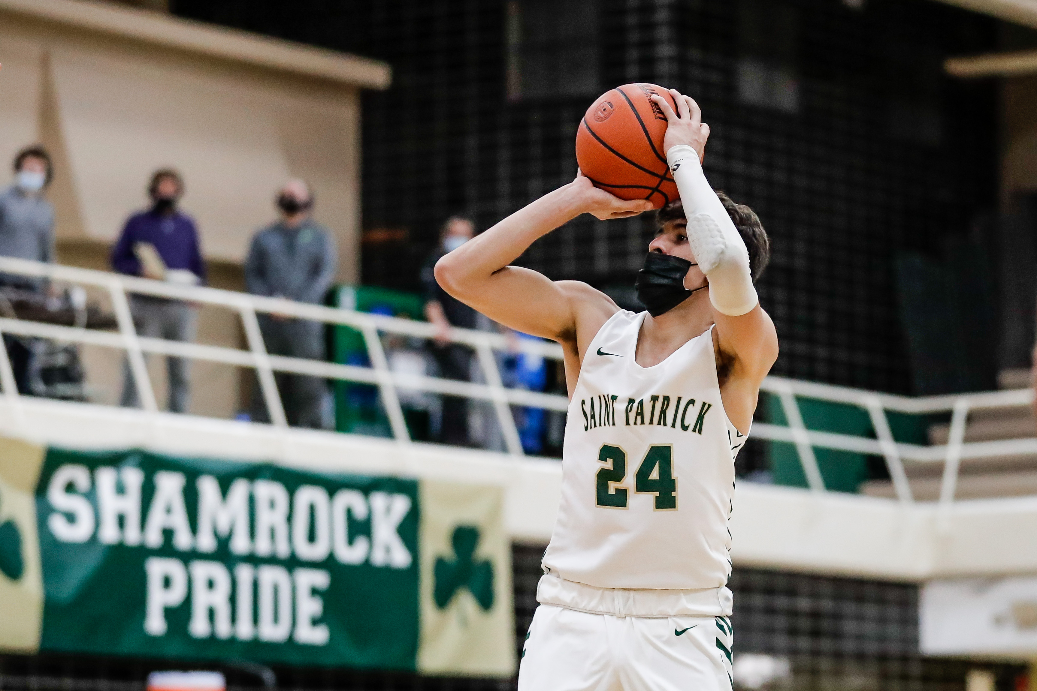 St. Patrick's Nick Galati (24) shoots the ball over Notre Dame.