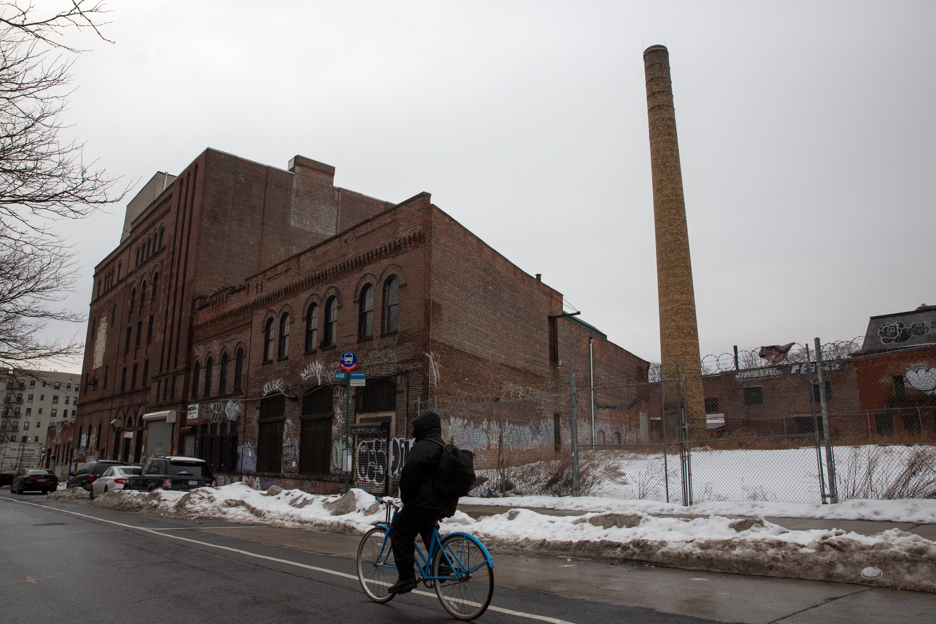 A site on Franklin Ave. in Crown Heights, slated for controversial new towers.