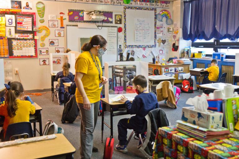 Kindergarten students at St. Pio Regional Catholic School in South Philadelphia.