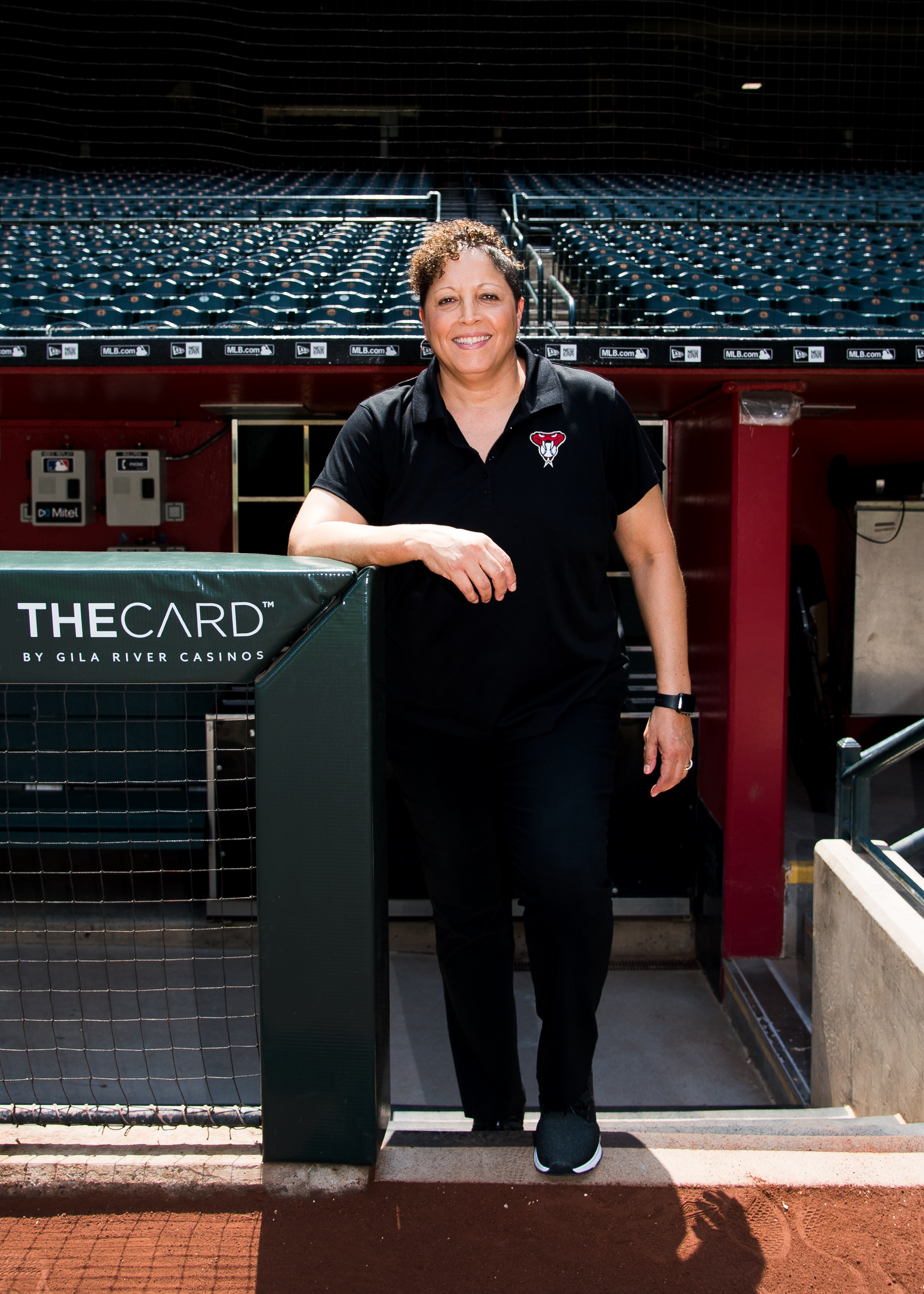 Nona Lee at Chase Field. She is the Arizona Diamondbacks Executive VP and Chief Legal Officer.