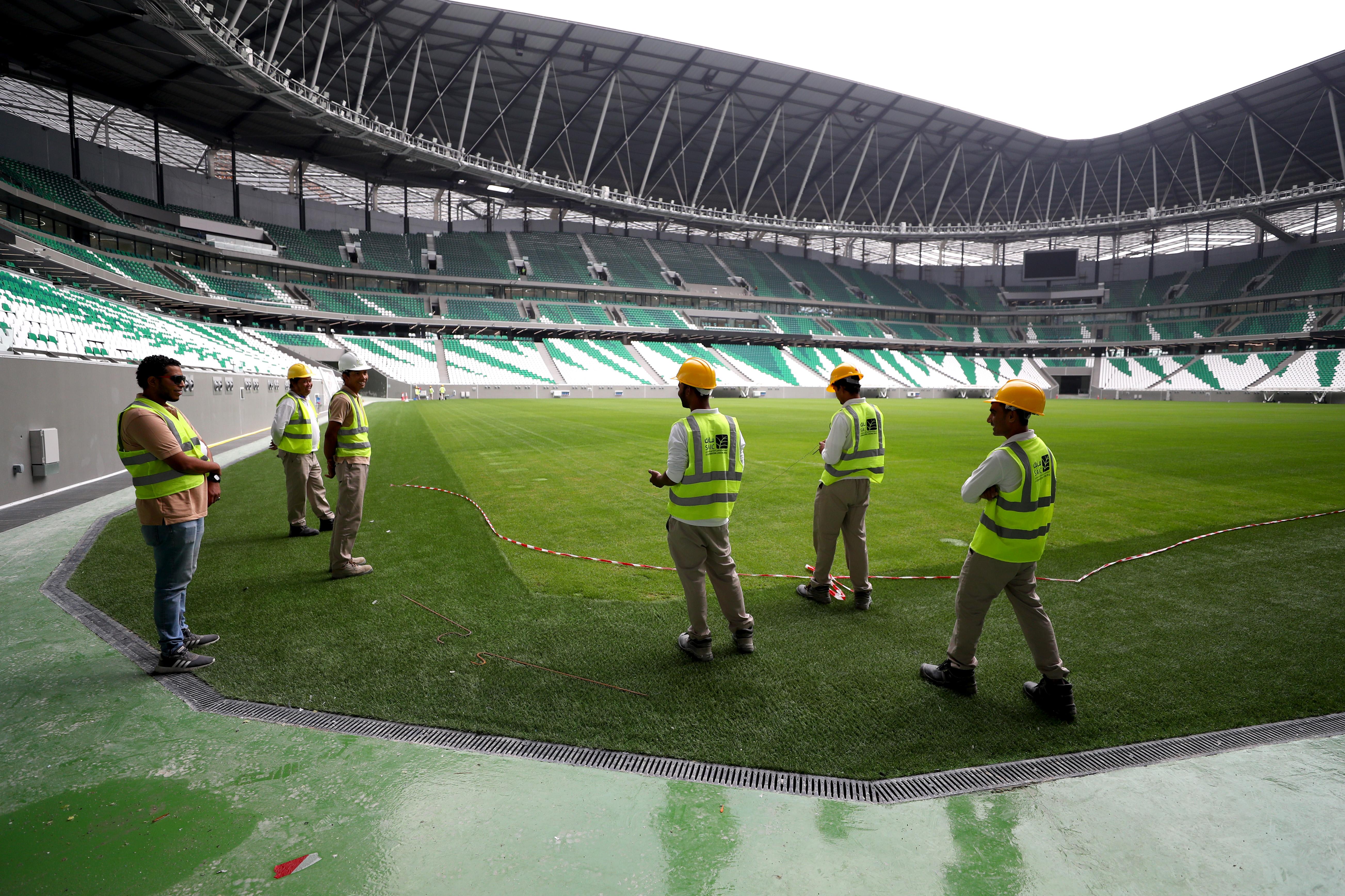 在2022年国际机构世界杯前面,多哈的教育城市体育场媒体之旅