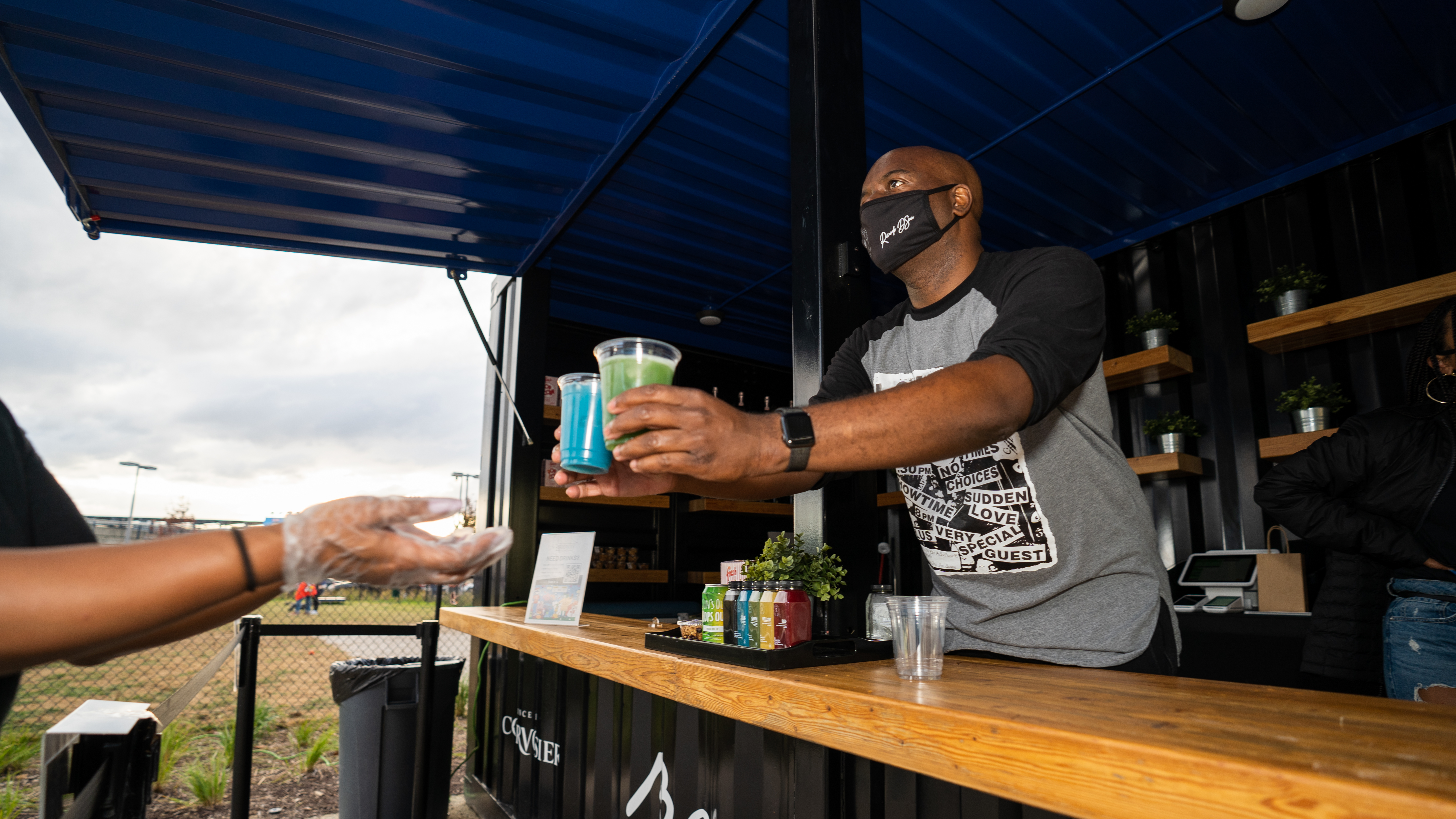 Ian Callender is using his shipping container bar, outdoor space, and indoor event space in Navy Yard to bring exposure from Black-owned restaurants, food trucks, and catering companies.