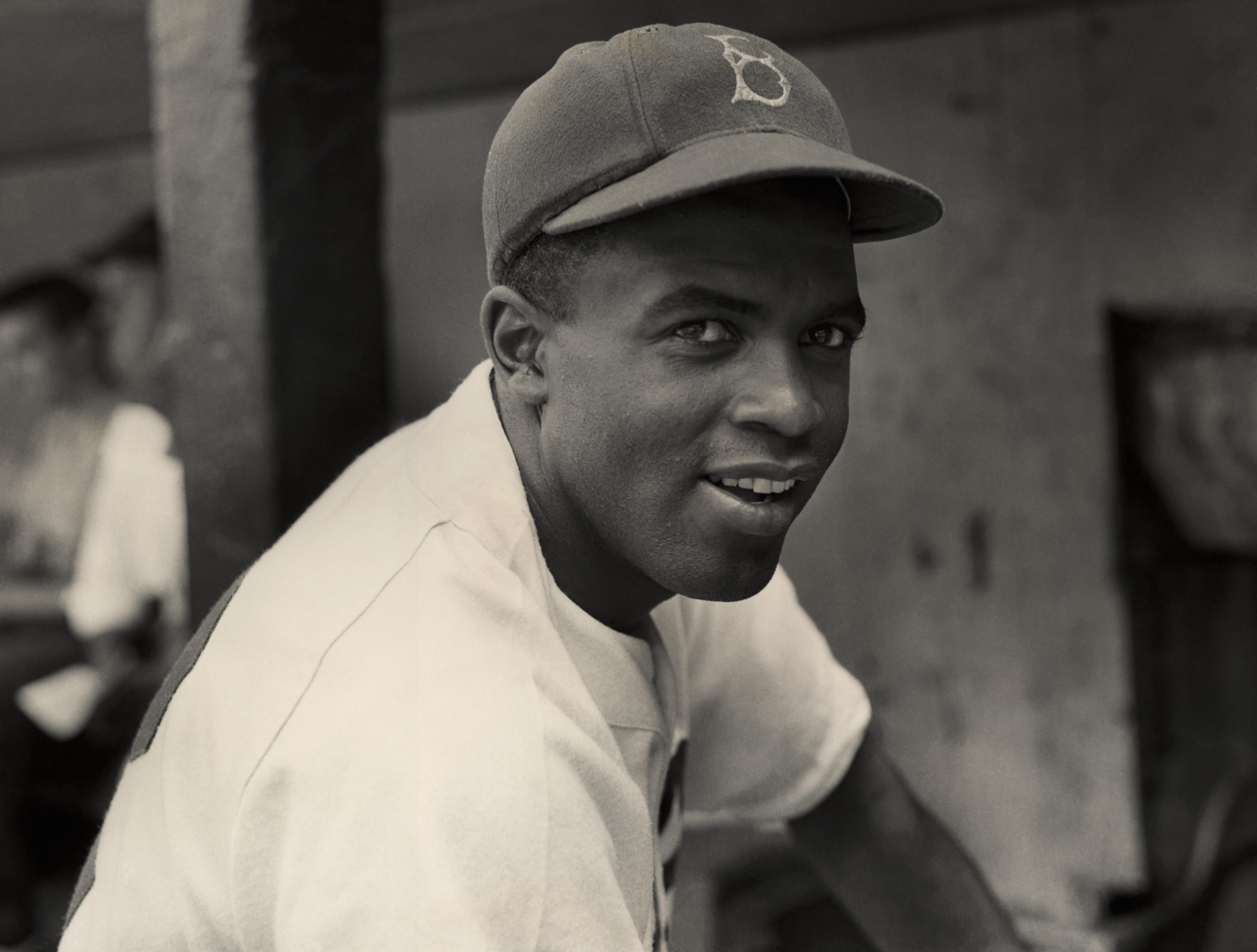 Dodgers' Infielder Jackie Robinson