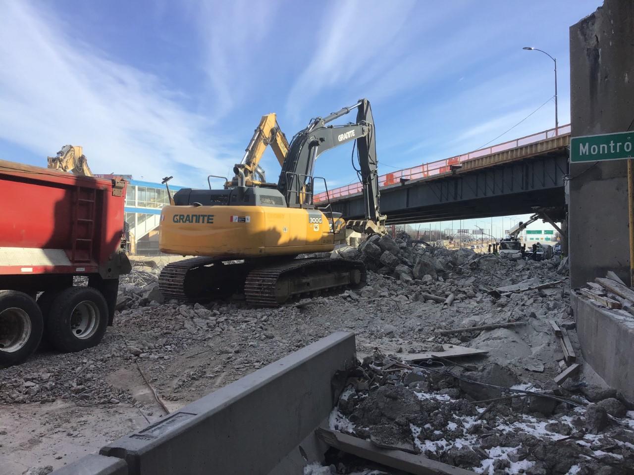 The Montrose Avenue bridge will undergo construction this weekend.