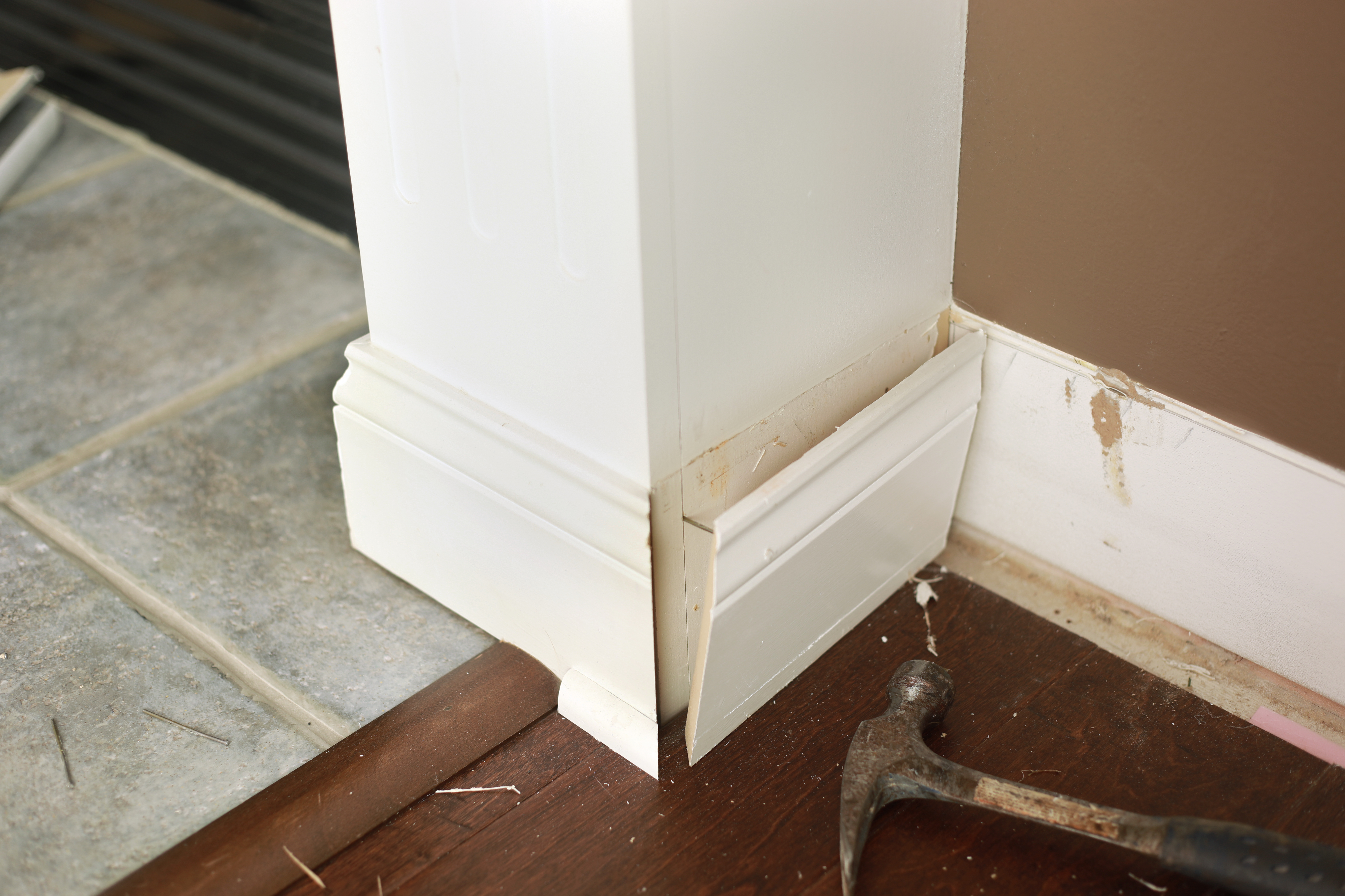 Removing baseboards