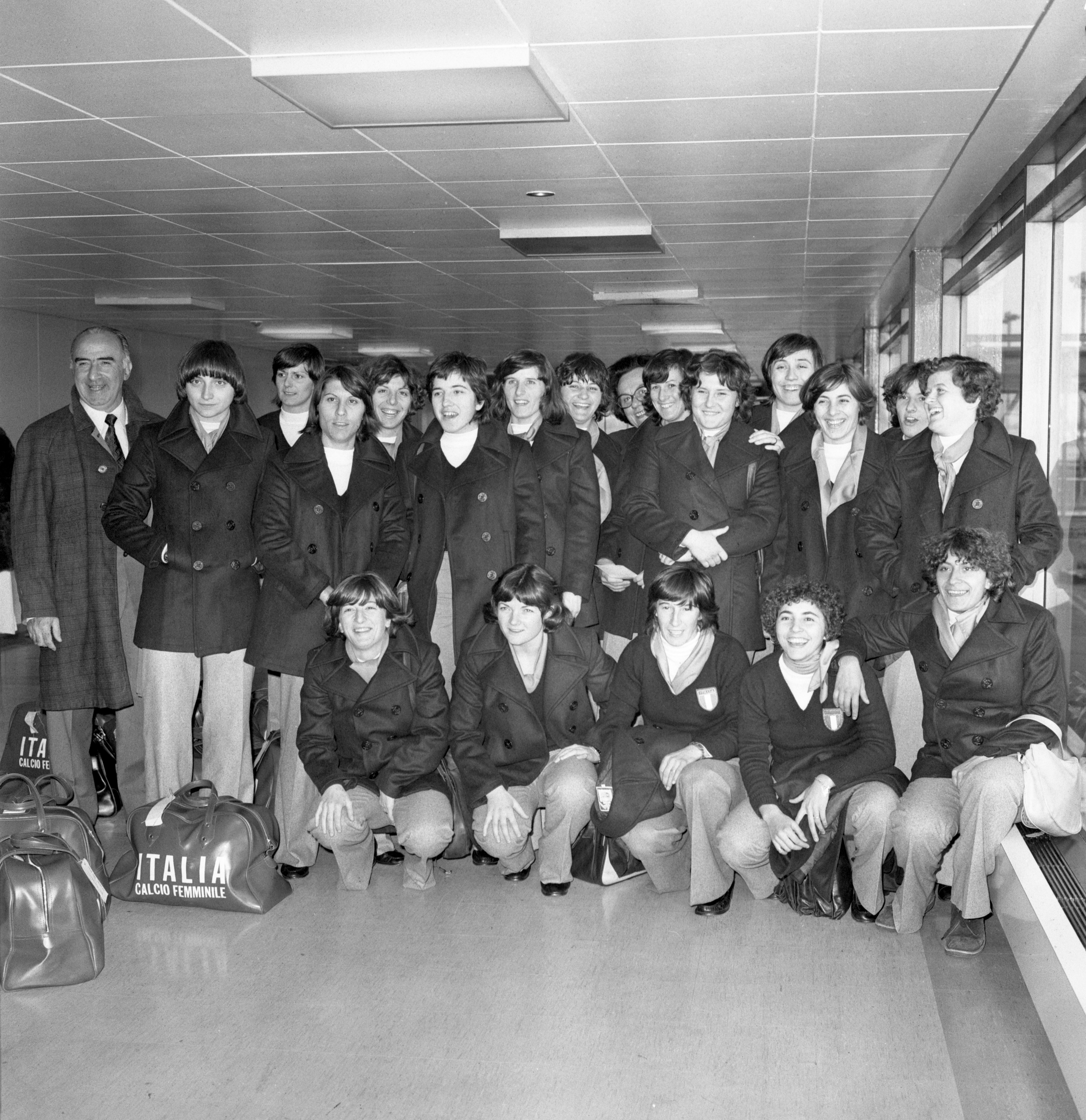 Soccer - Italy Women's Team - Heathrow Airport, London