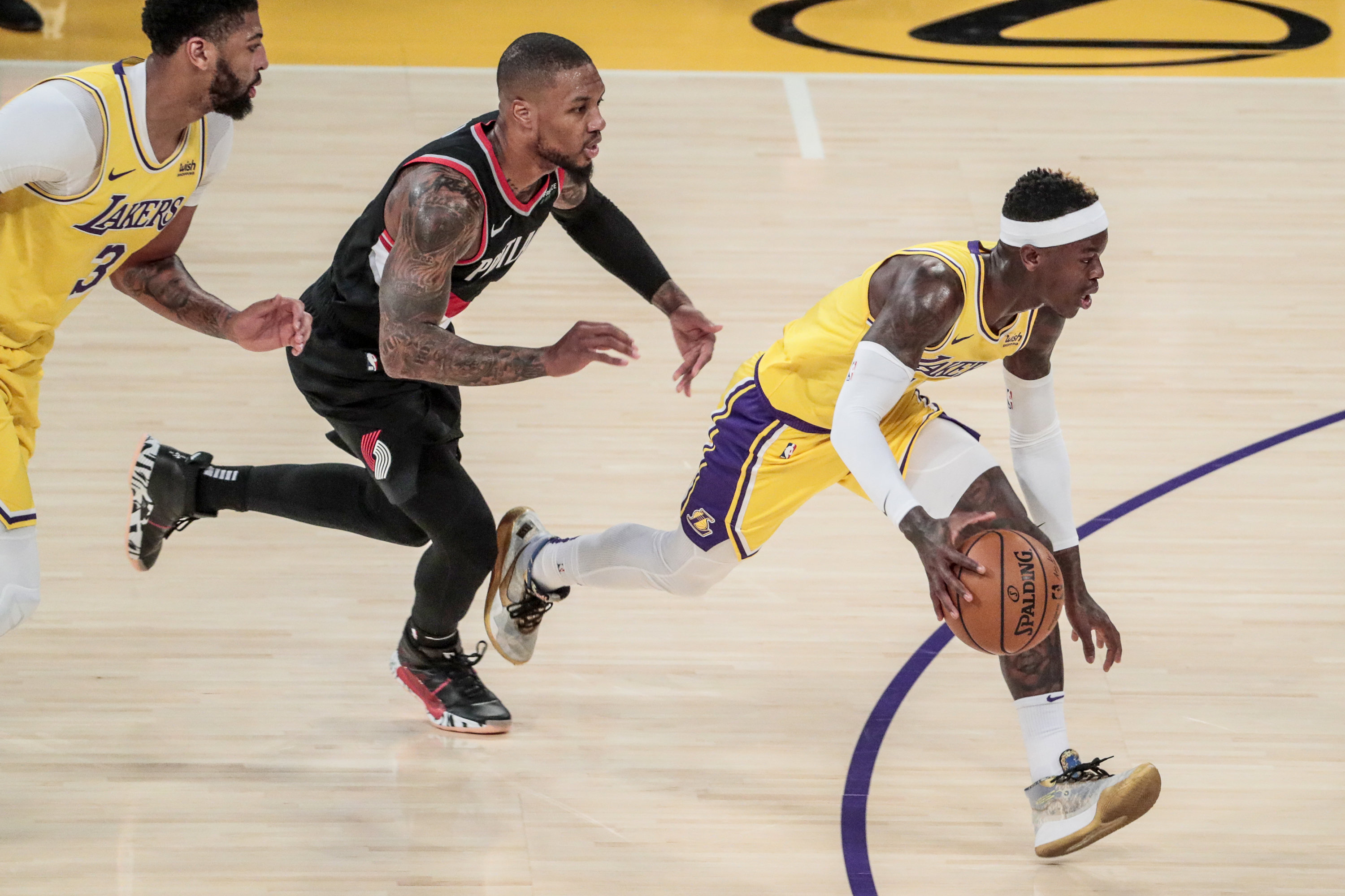 Lakers Blazers at Staples