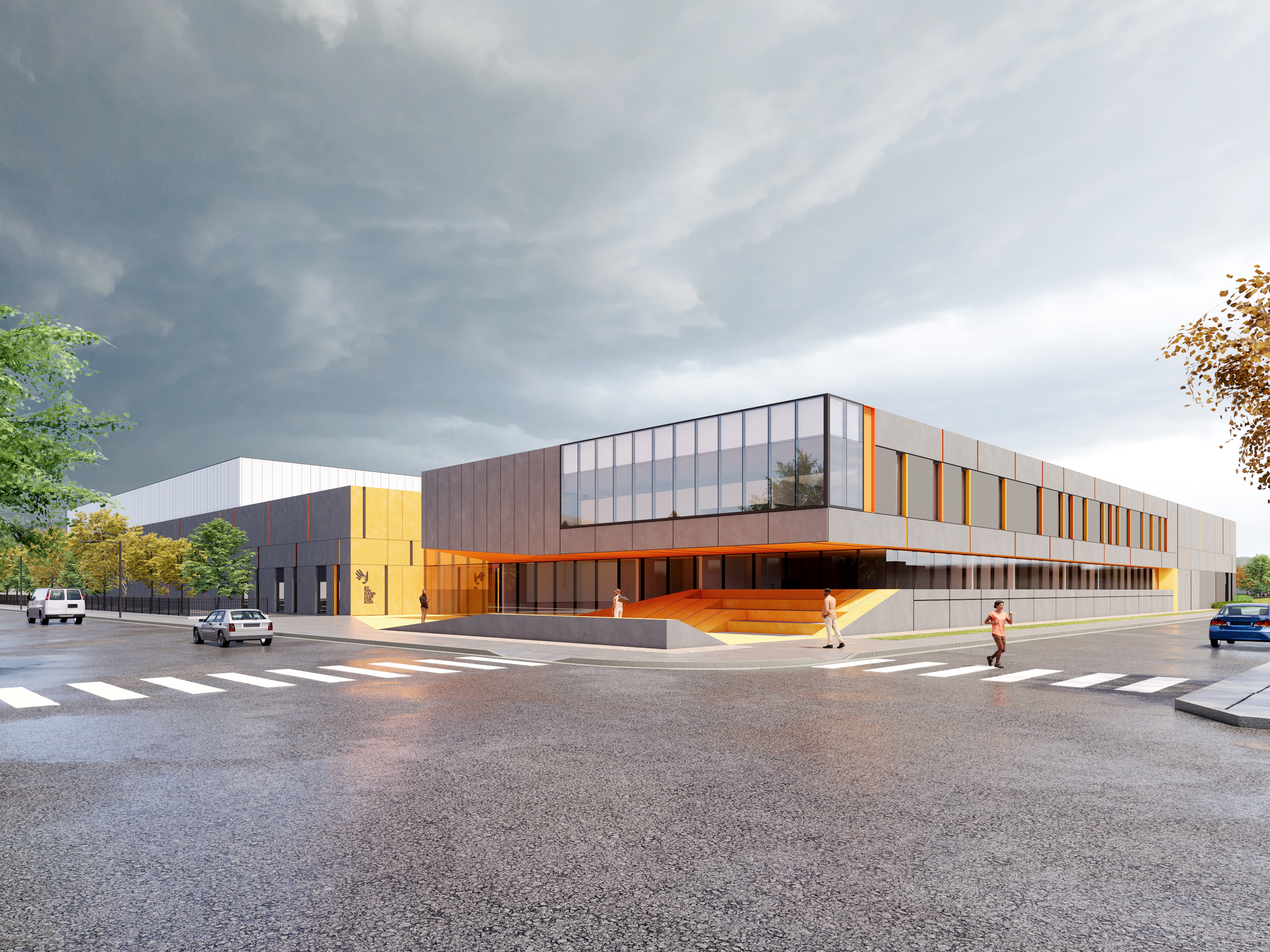 A rendering of a community center scheduled to break ground in the North Austin neighborhood in June.