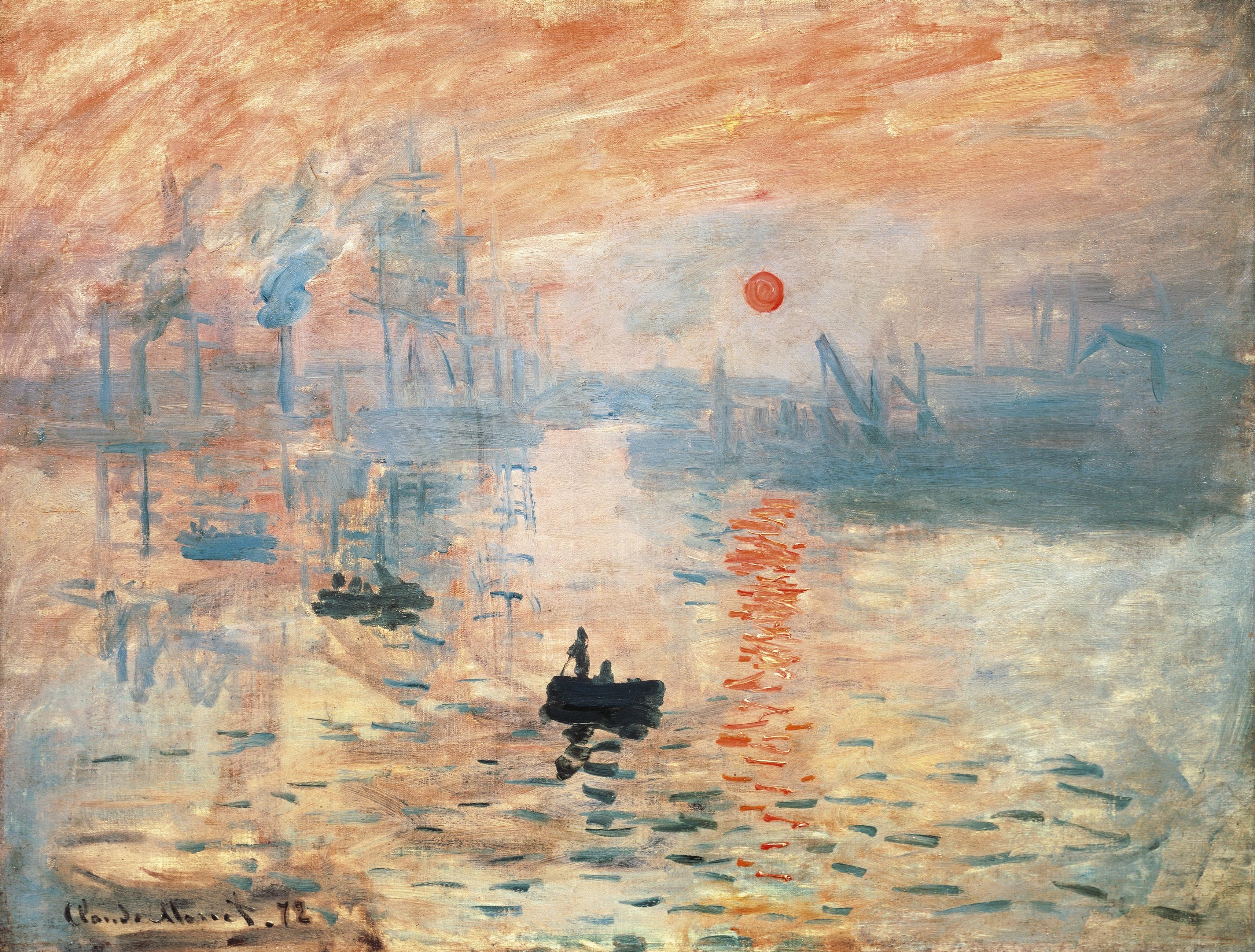 Impression, sunrise (Impression, Soleil Levant), 1872, by Claude Monet (1840-1926). (Photo by DeAgostini/Getty Images)