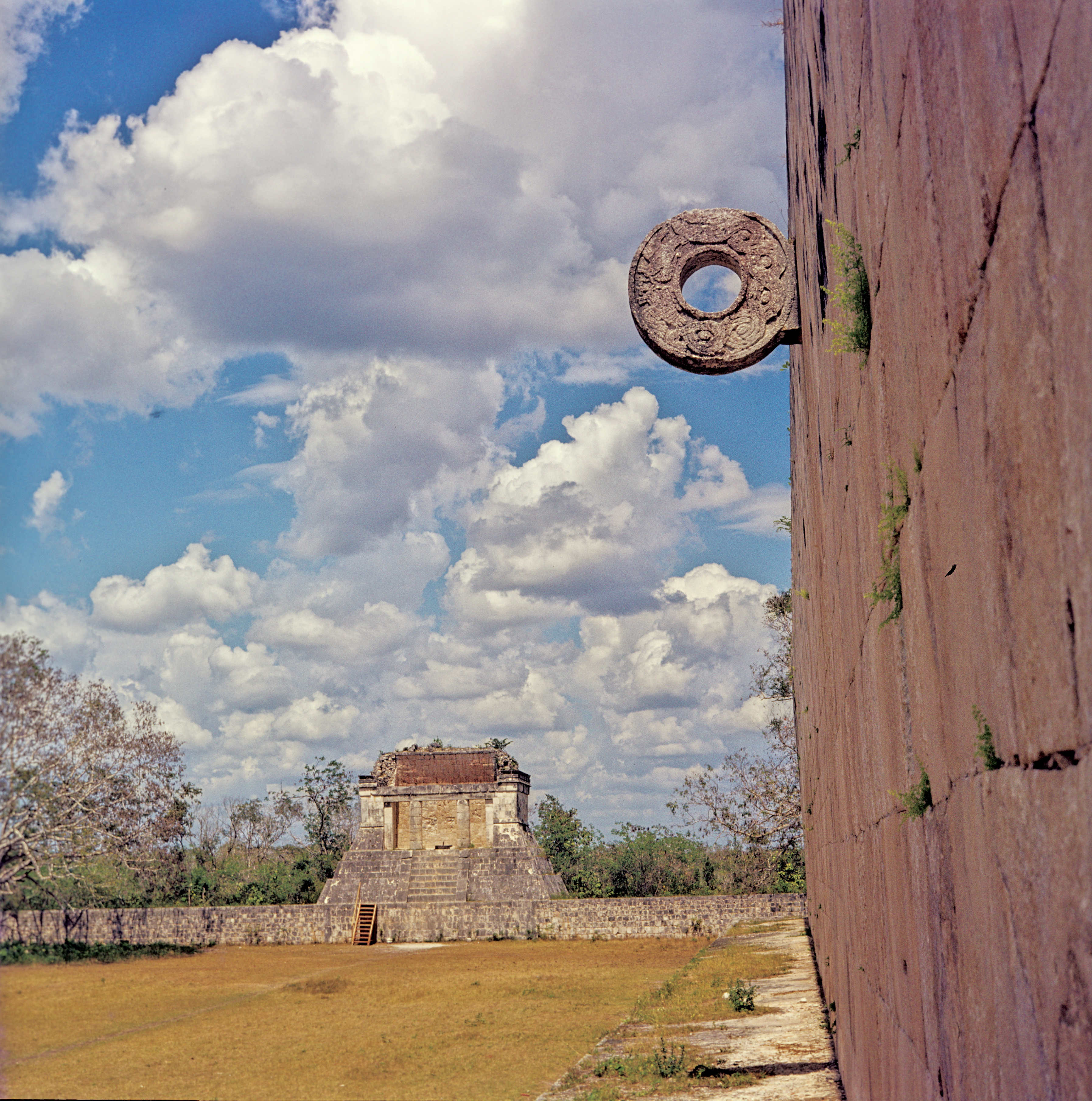 Pelote Ball Hoop and Court at Chichen Itza