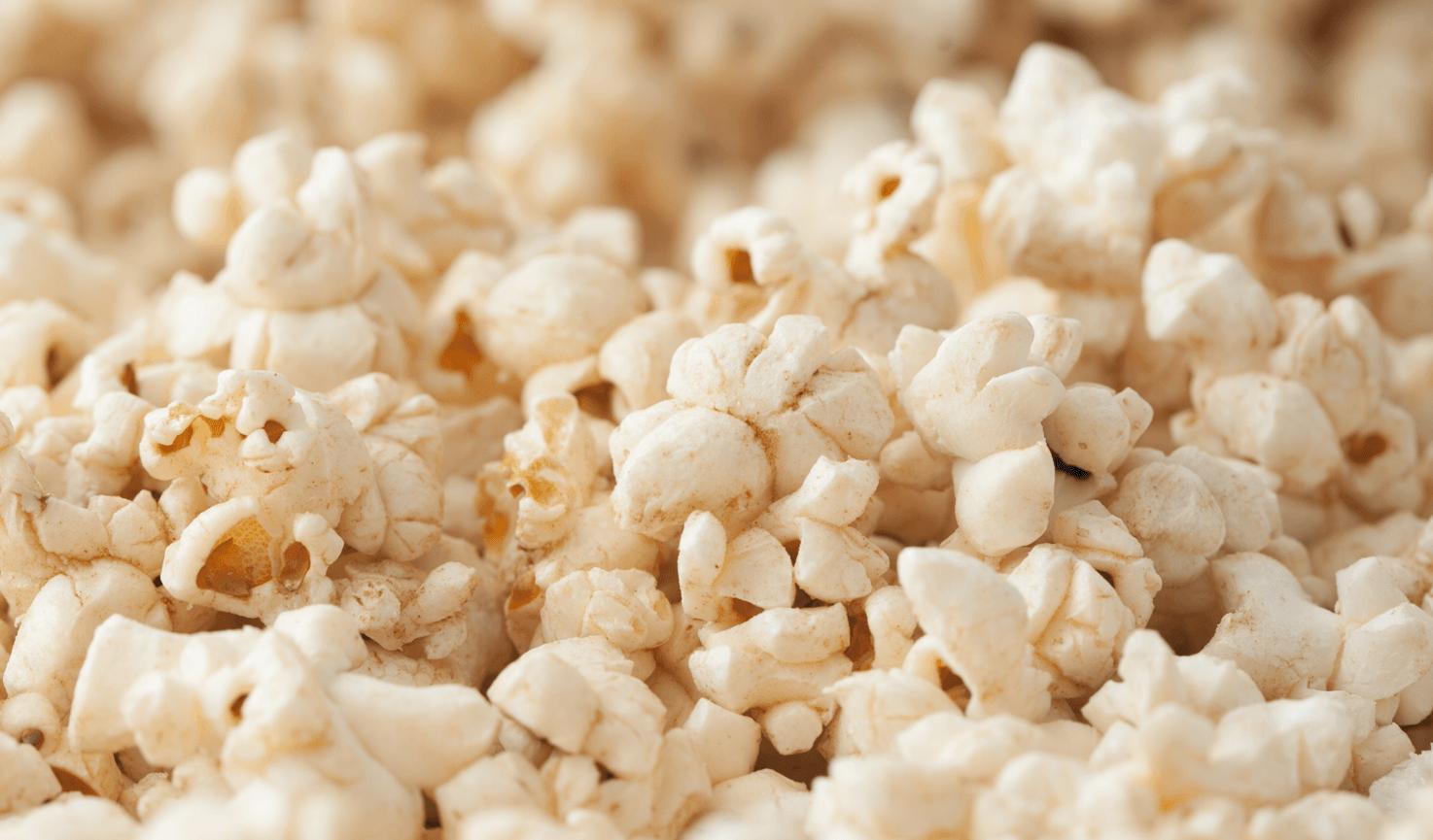A closeup of popcorn