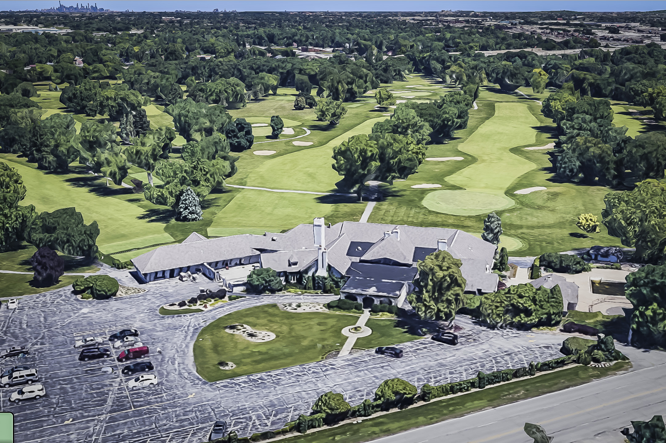 The now-closed Calumet Country Club in Homewood.