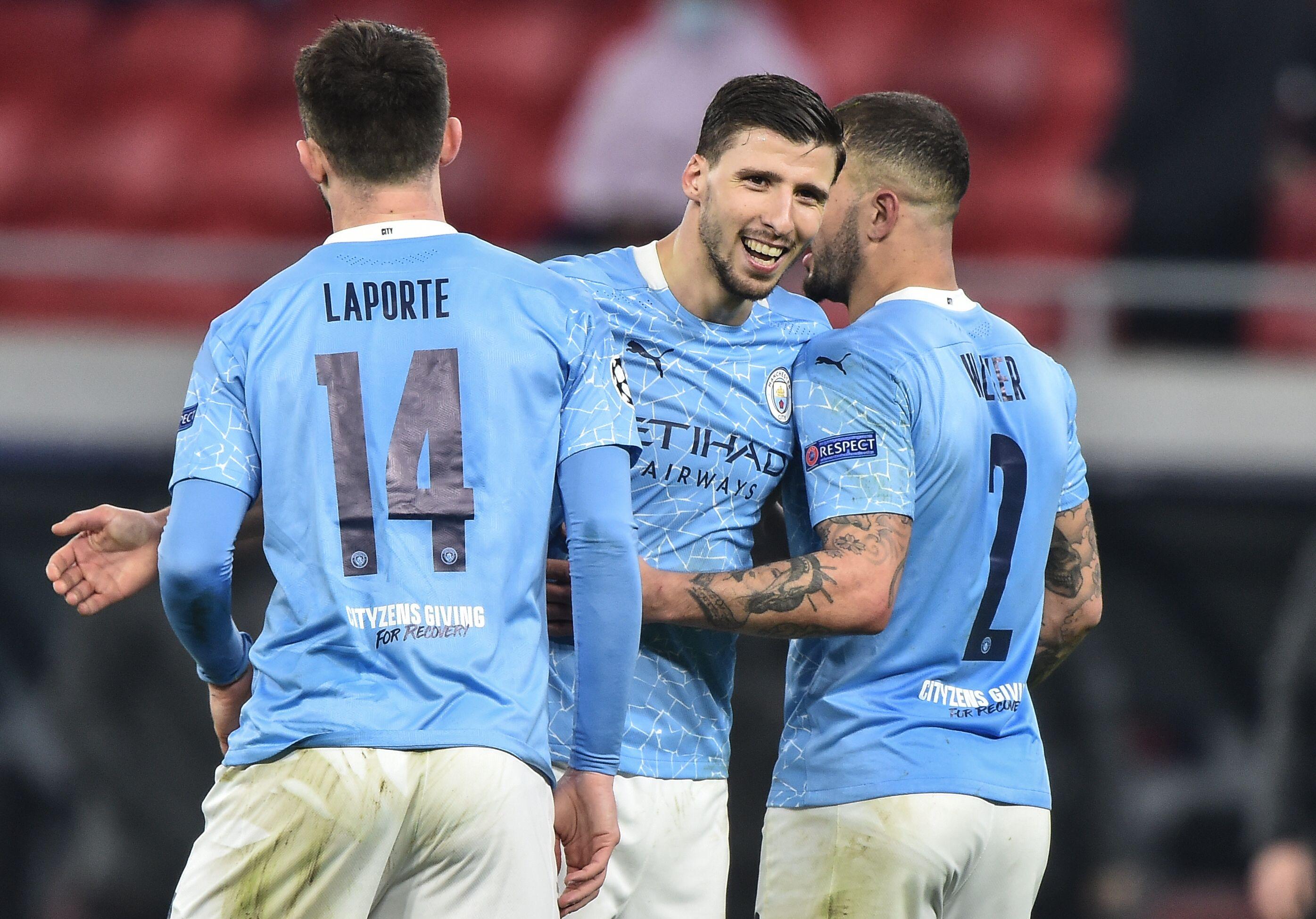 Aymeric Laporte, Ruben Dias and Kyle Walker - Manchester City - Premier League