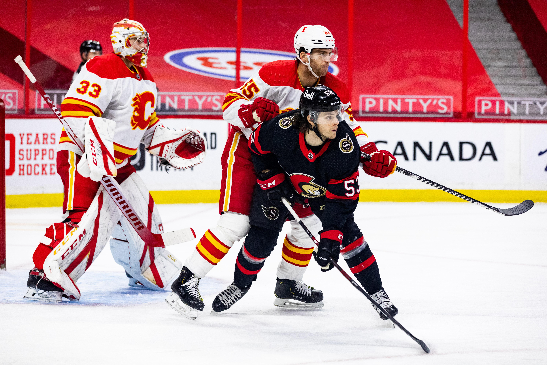 NHL: FEB 27 Flames at Senators
