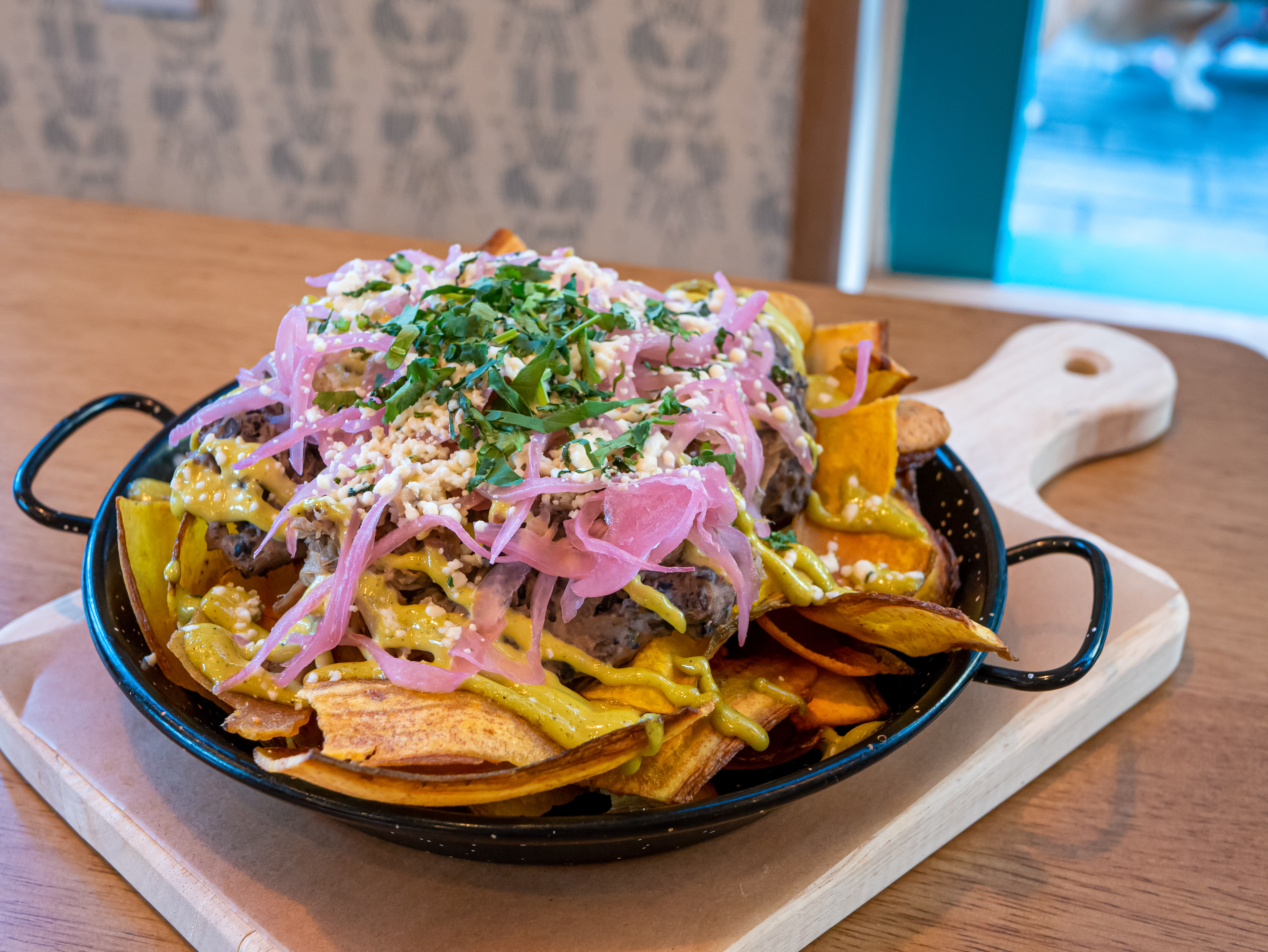 Colada Shop will introduce plantain nachos at its new location in Potomac, Maryland.