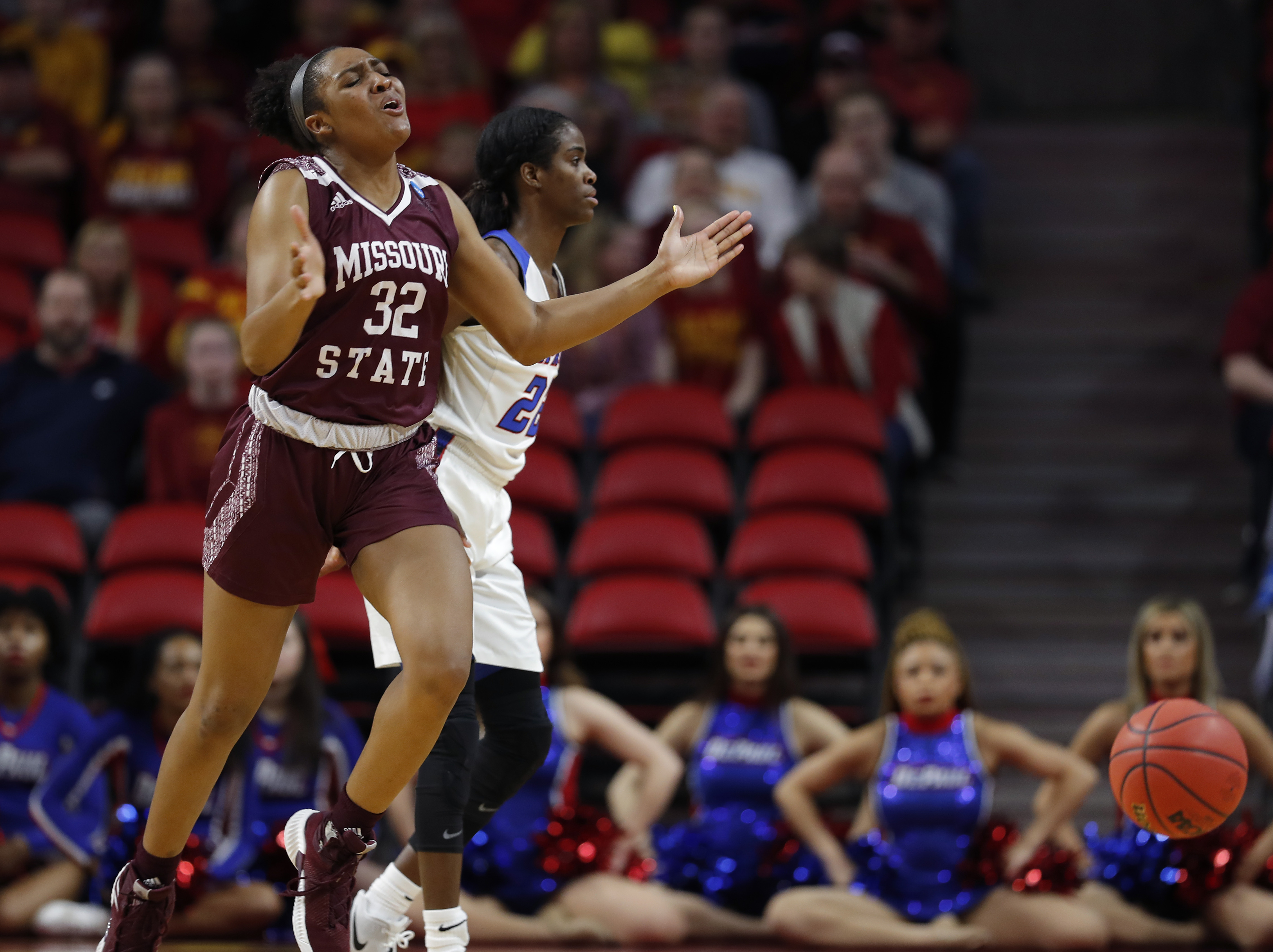 Jasmine Franklin scored 12 points and grabbed a career-high 17 rebounds to lead Missouri State over Loyola.