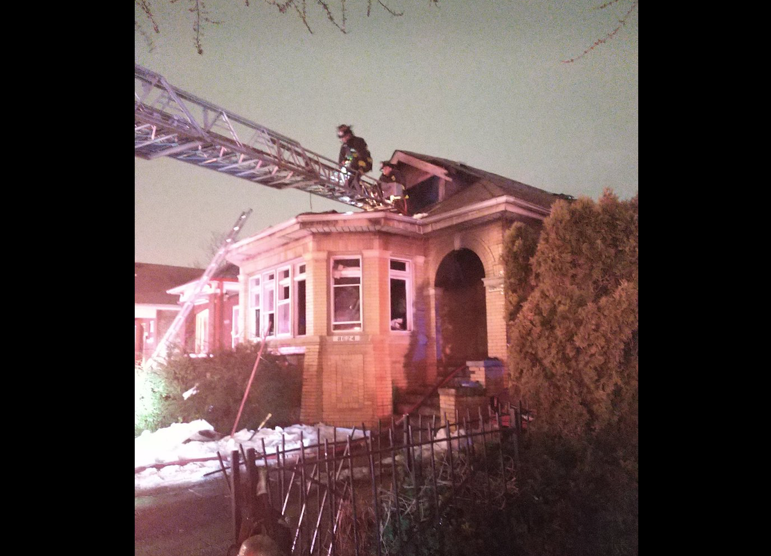 A fire broke out in a home Feb. 28, 2021 in the 8600 block of South Hermitage Avenue in Gresham.