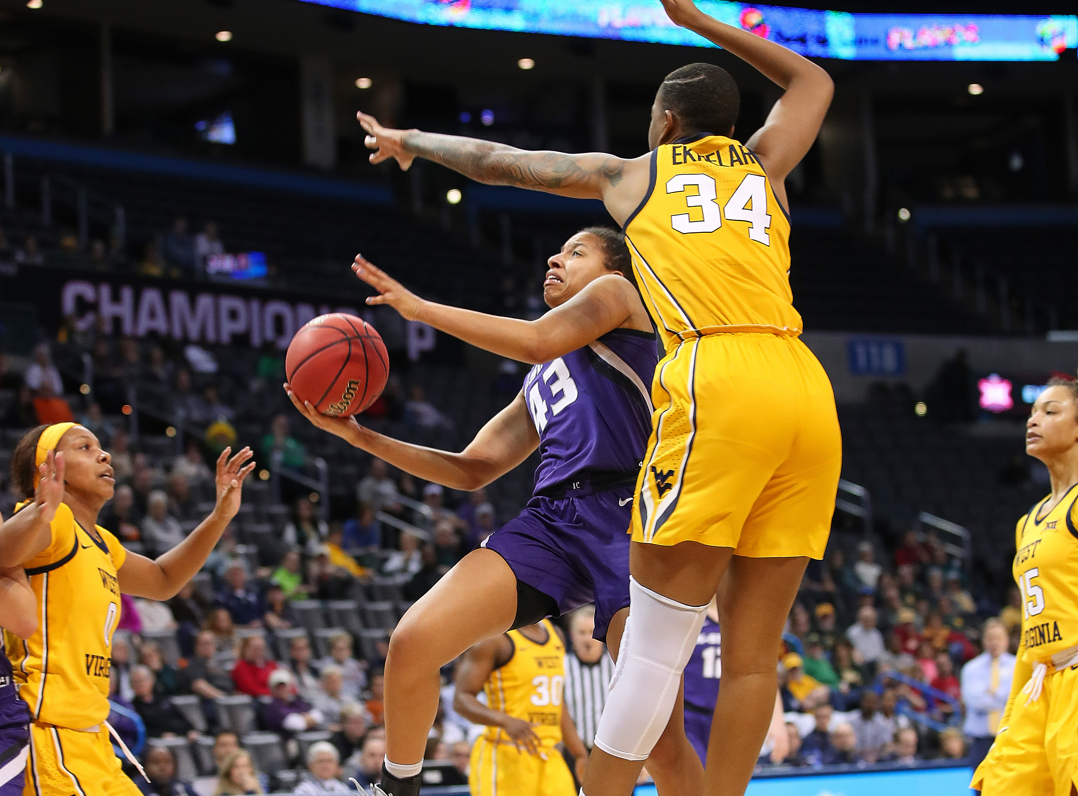 COLLEGE BASKETBALL: MAR 09 Big 12 Conference Women's Championship - West Virginia v Kansas State