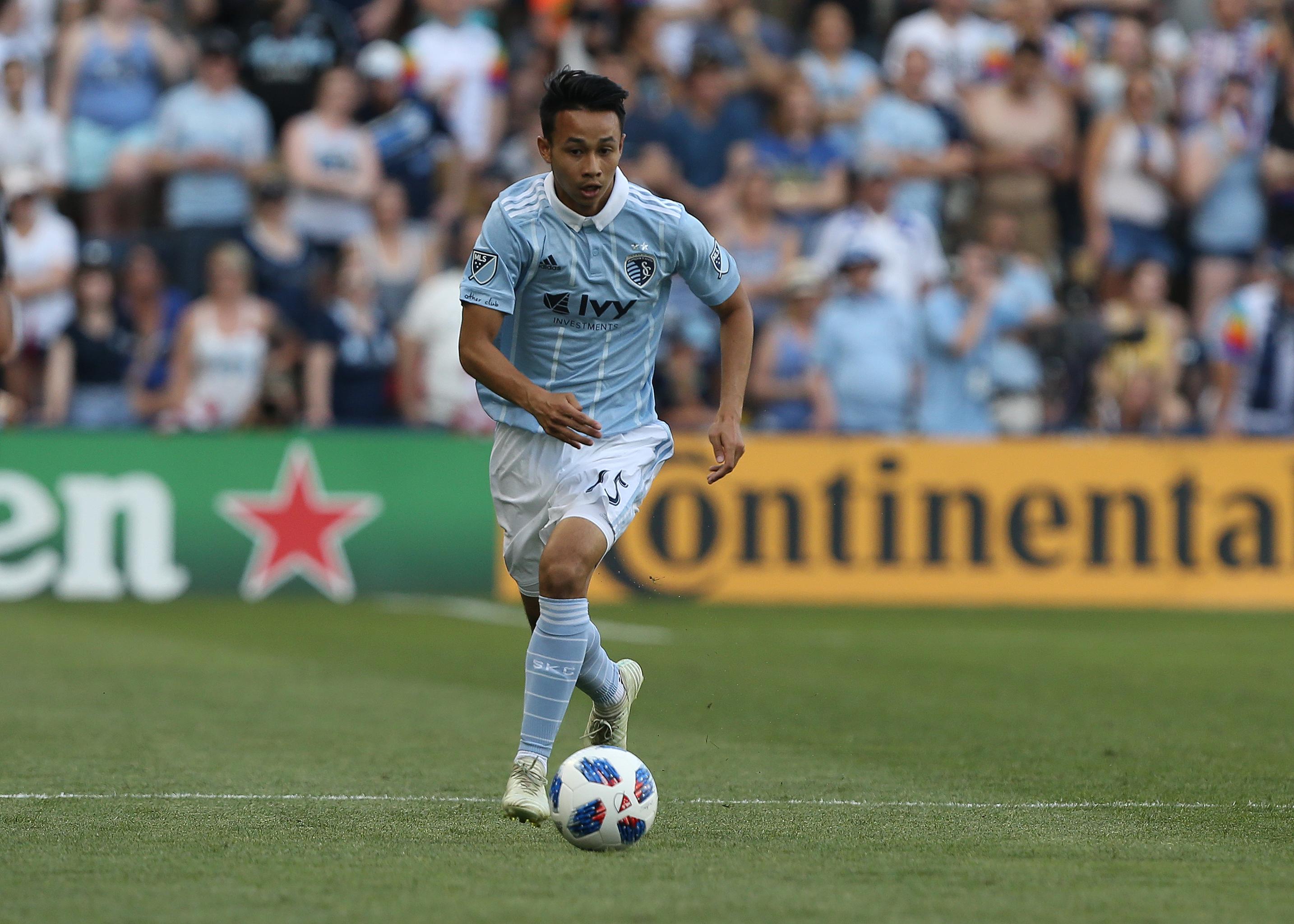 SOCCER: MAY 27 MLS - Columbus Crew at Sporting Kansas City