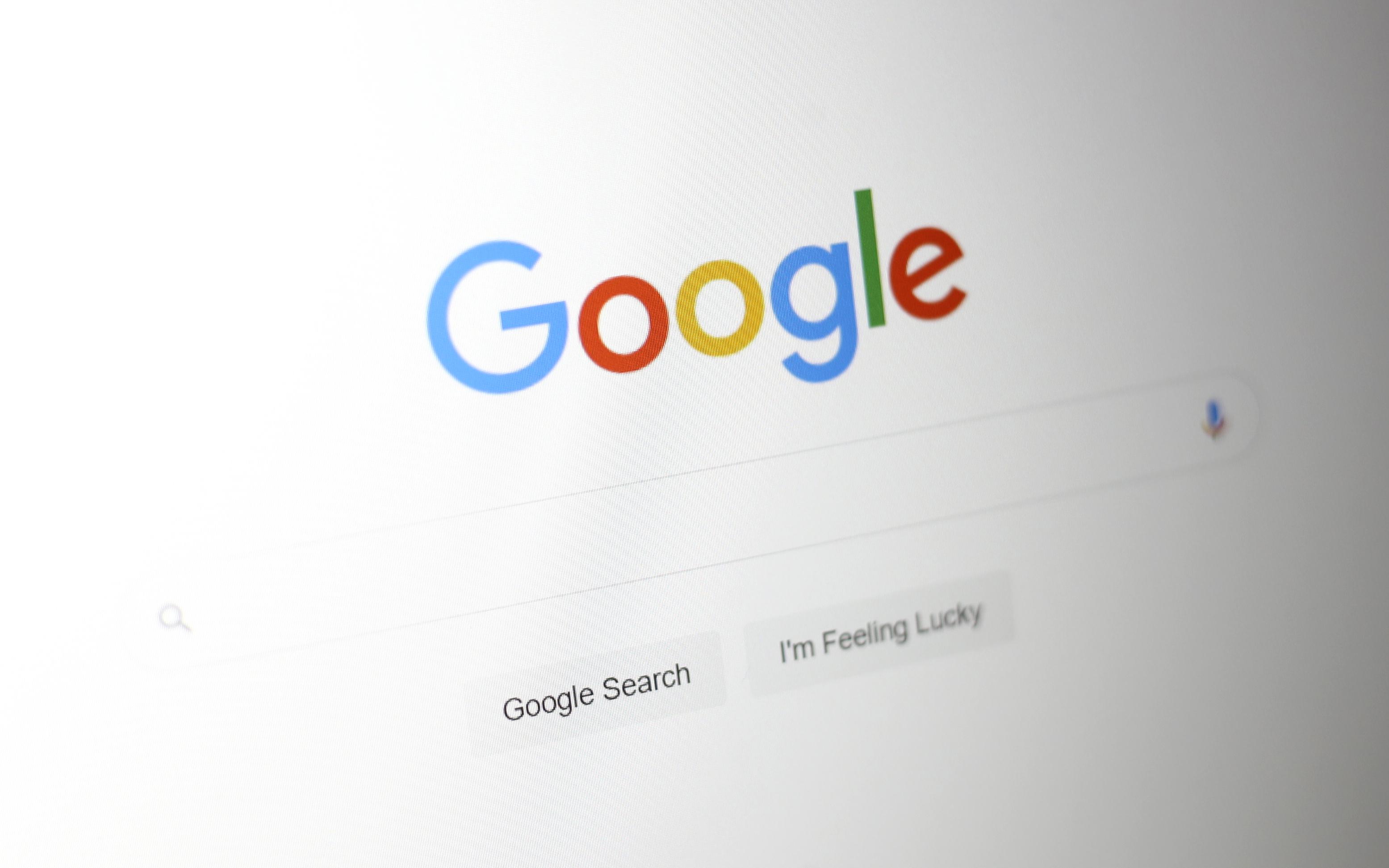 Google's homepage.