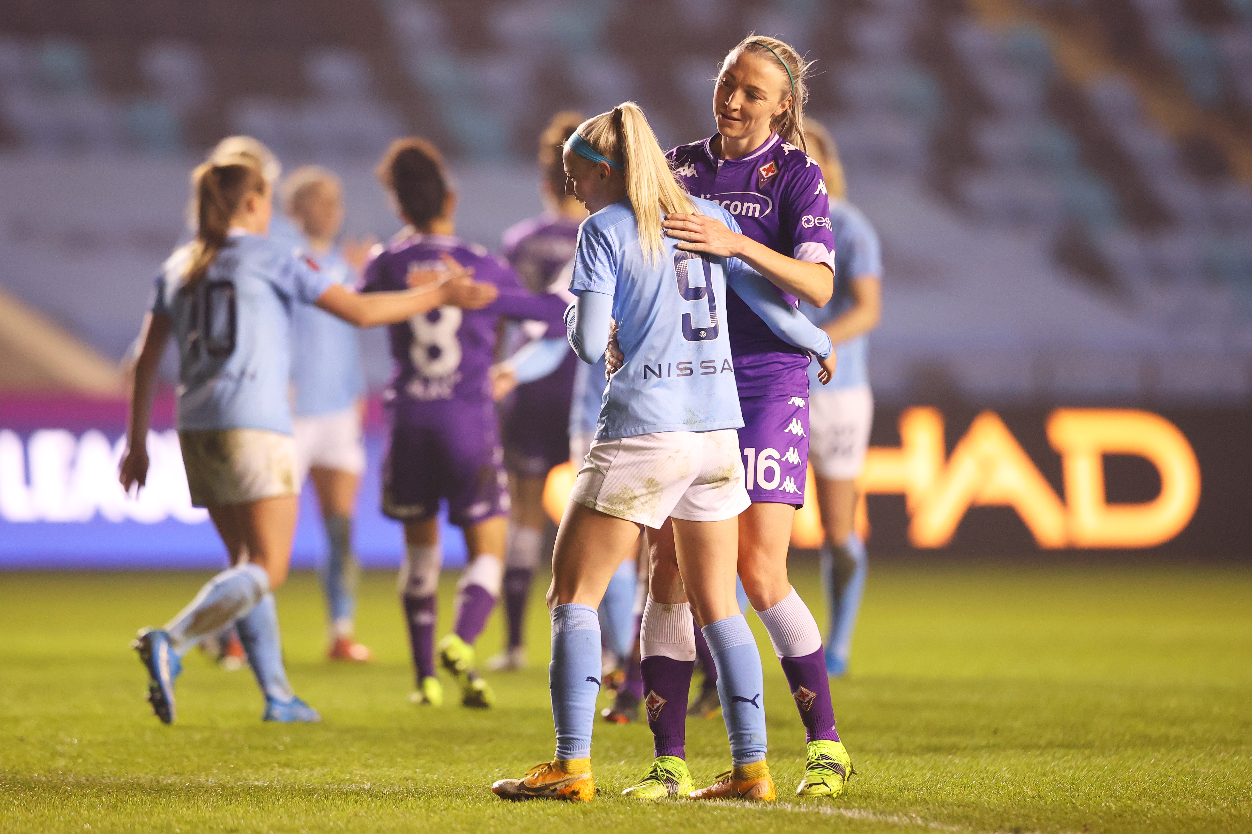 Manchester City WFC v ACF Fiorentina - Women's UEFA Champions League Round Of 16 Leg One