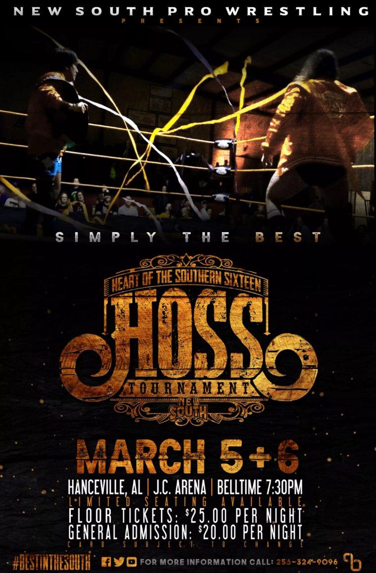 New South HOSS Tournament 2021 poster