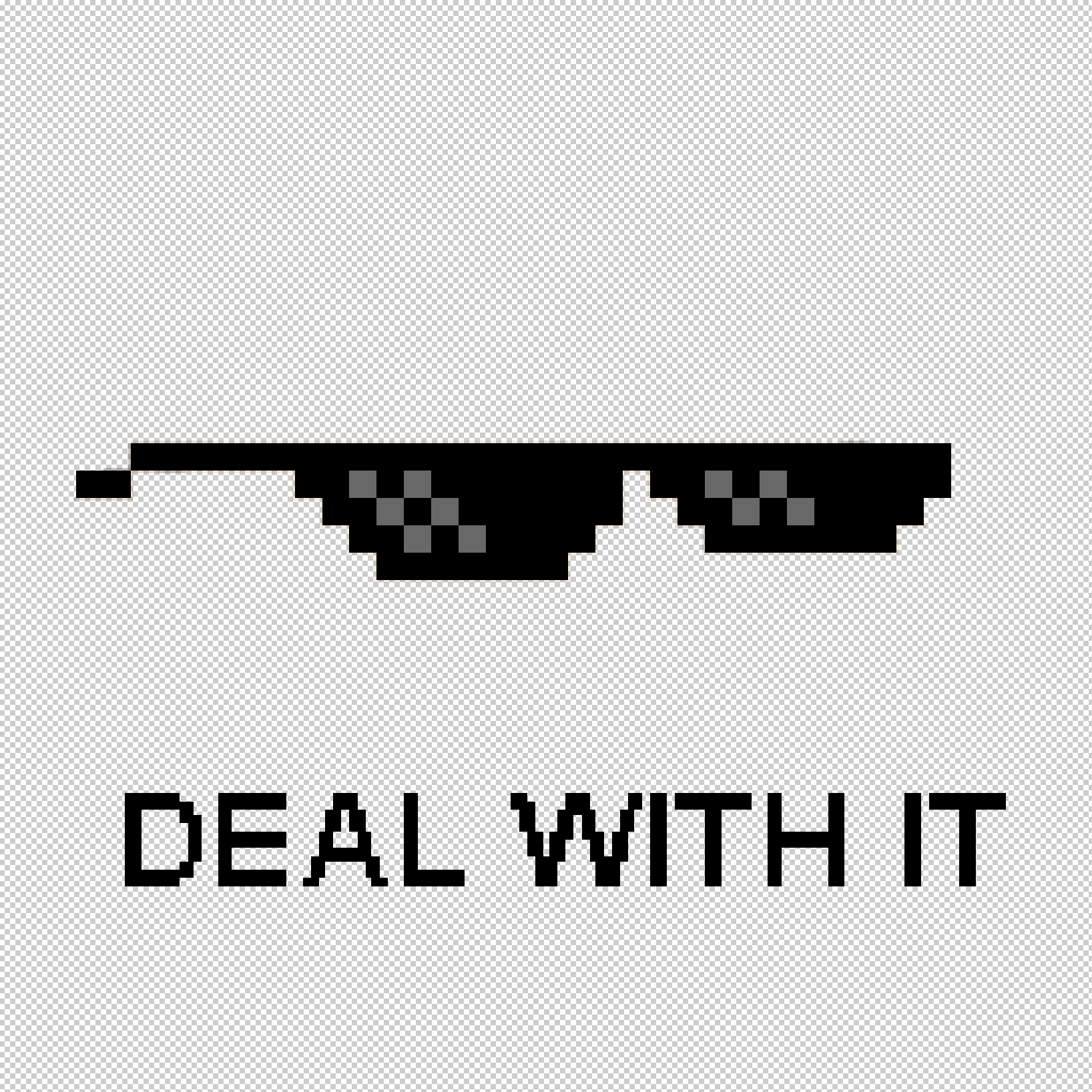 Deal with it glasses and text