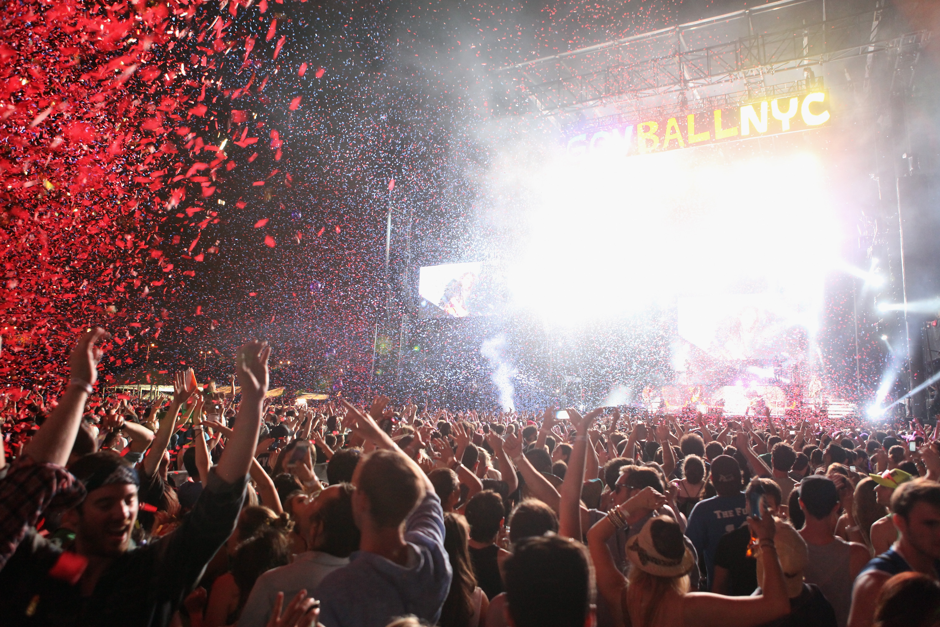 A crowd of people at the 2013 Governor's Ball Music Festival.