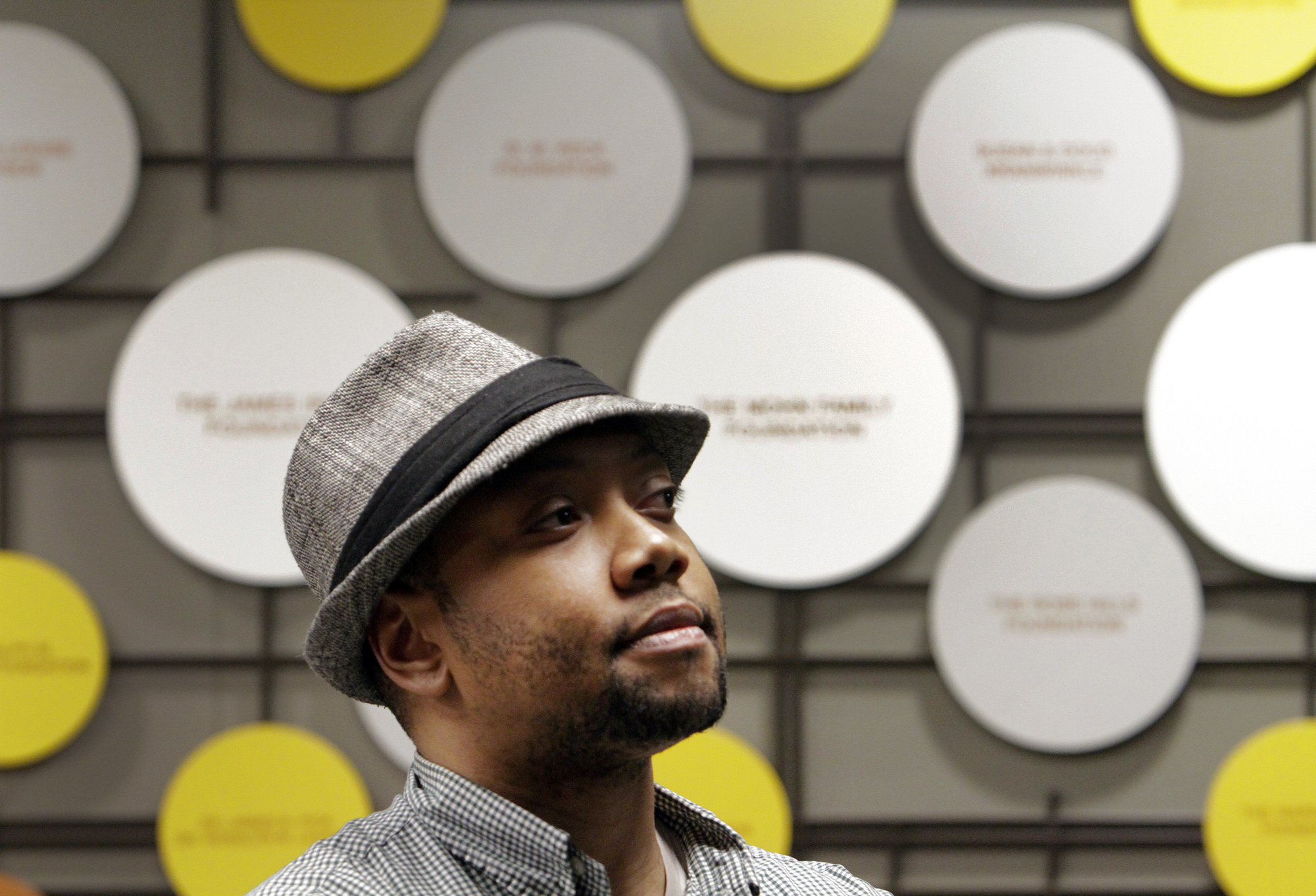 Shukree Tilghman at the Crawford Family Forum on Feb. 7, 2012 screening his film and answering ques