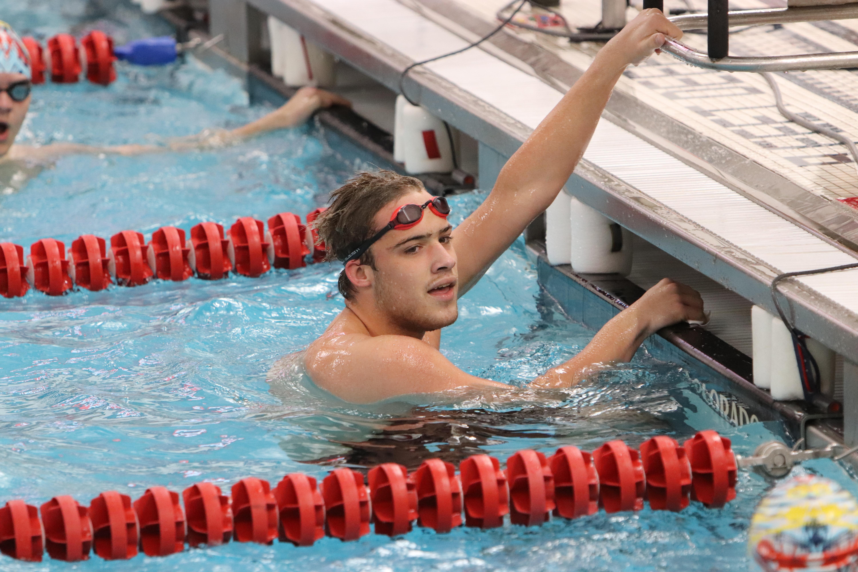 Jordan Fixsen swims for Penfield High School in New York.