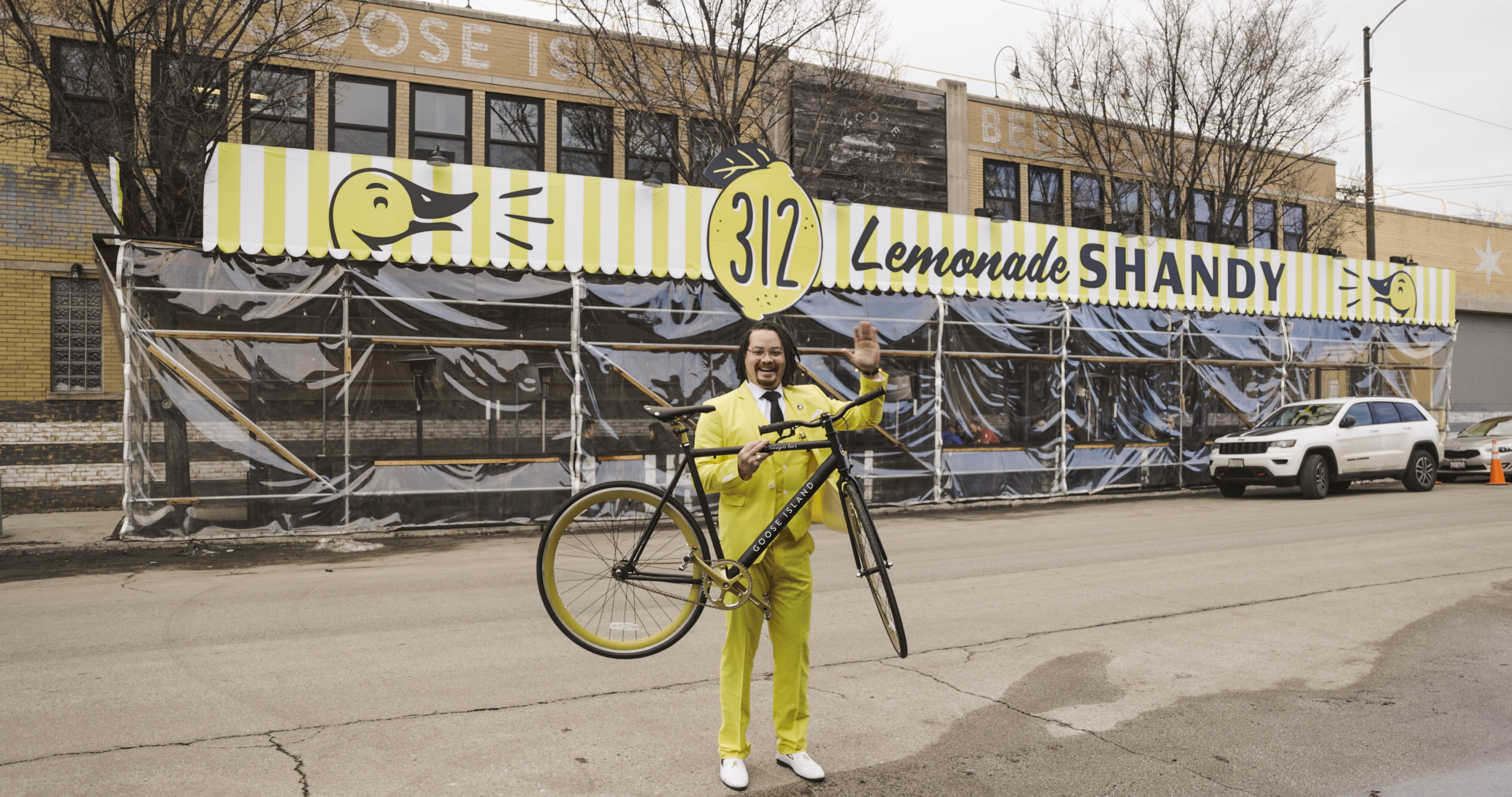 You could win one of these Goose Island Beer-branded bikes if you are among the finders of giant lemons scattered across Chicago on March 12.