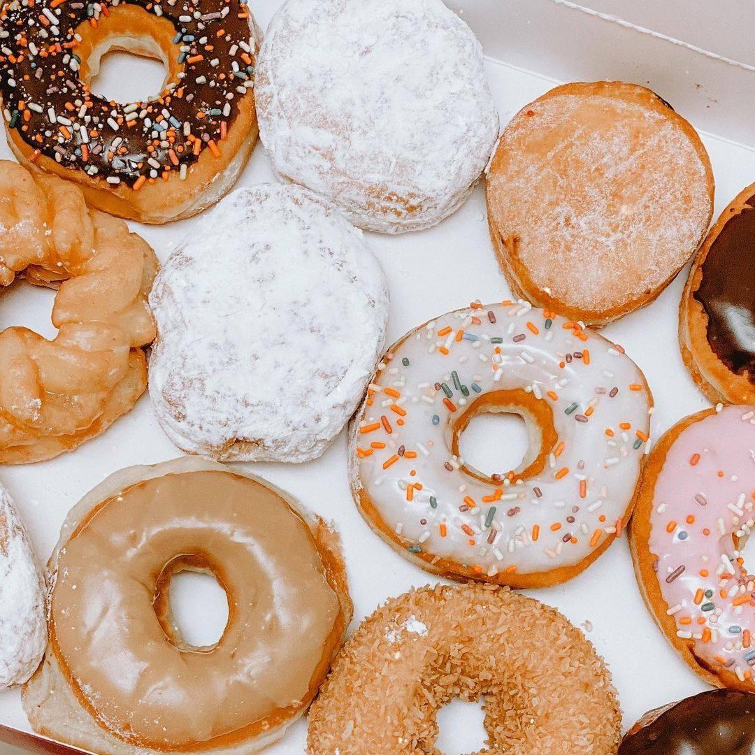 A variety of doughnuts