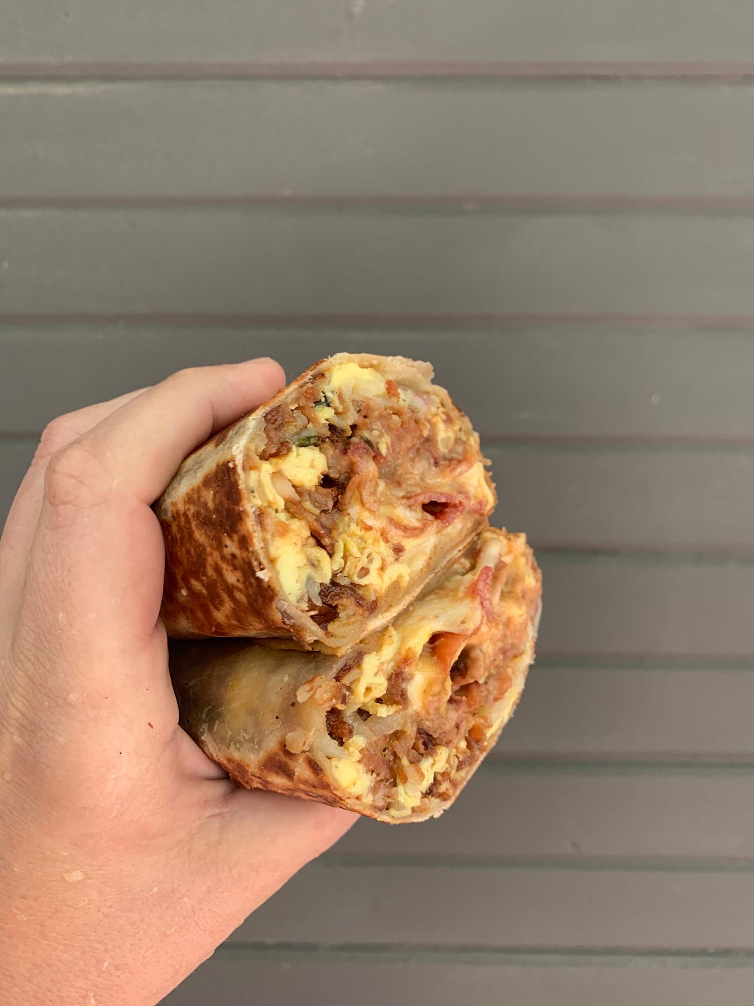 A burrito from Bummer Burrito